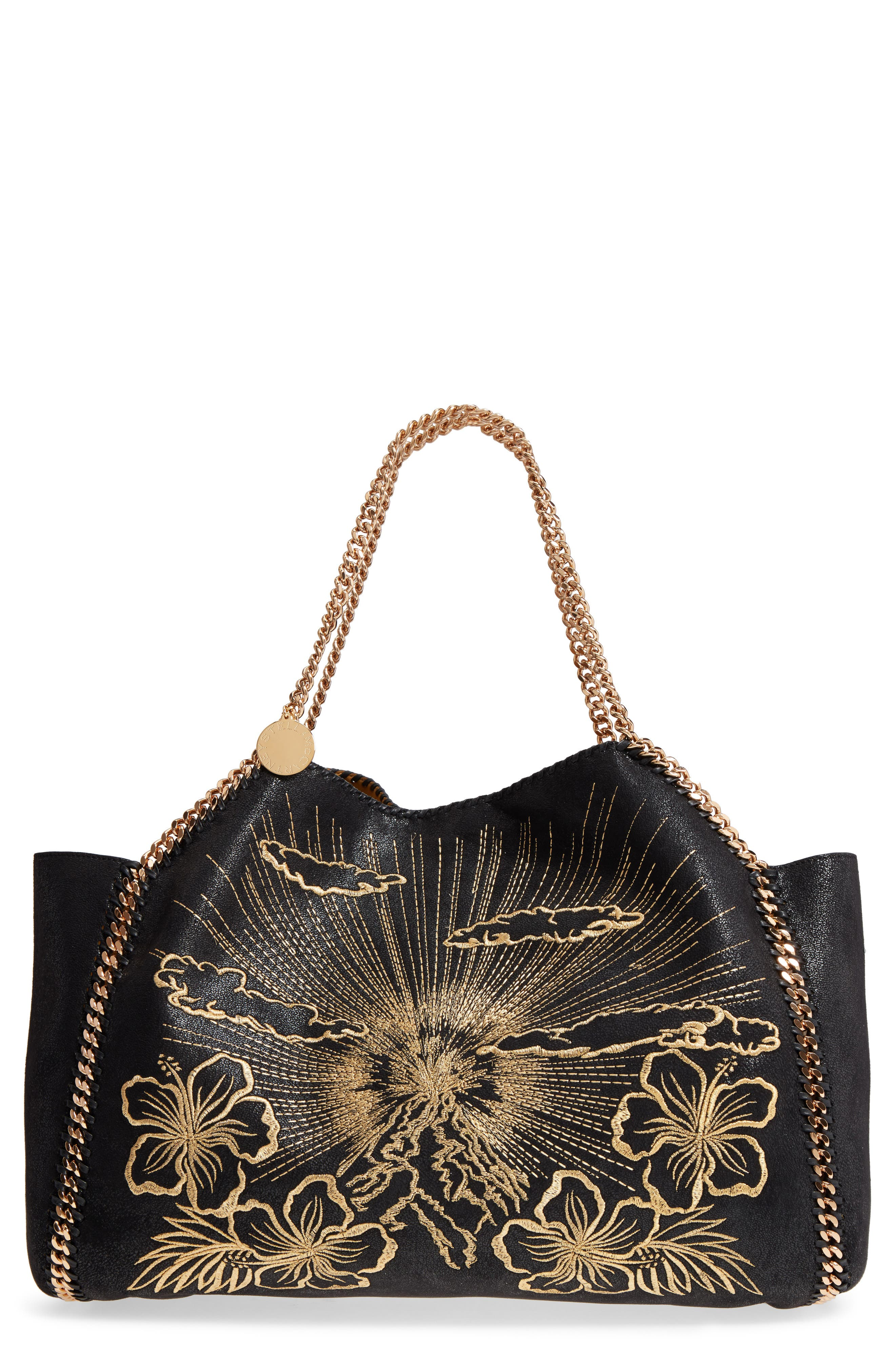 Stella McCartney Embroidered Reversible Faux Leather Tote