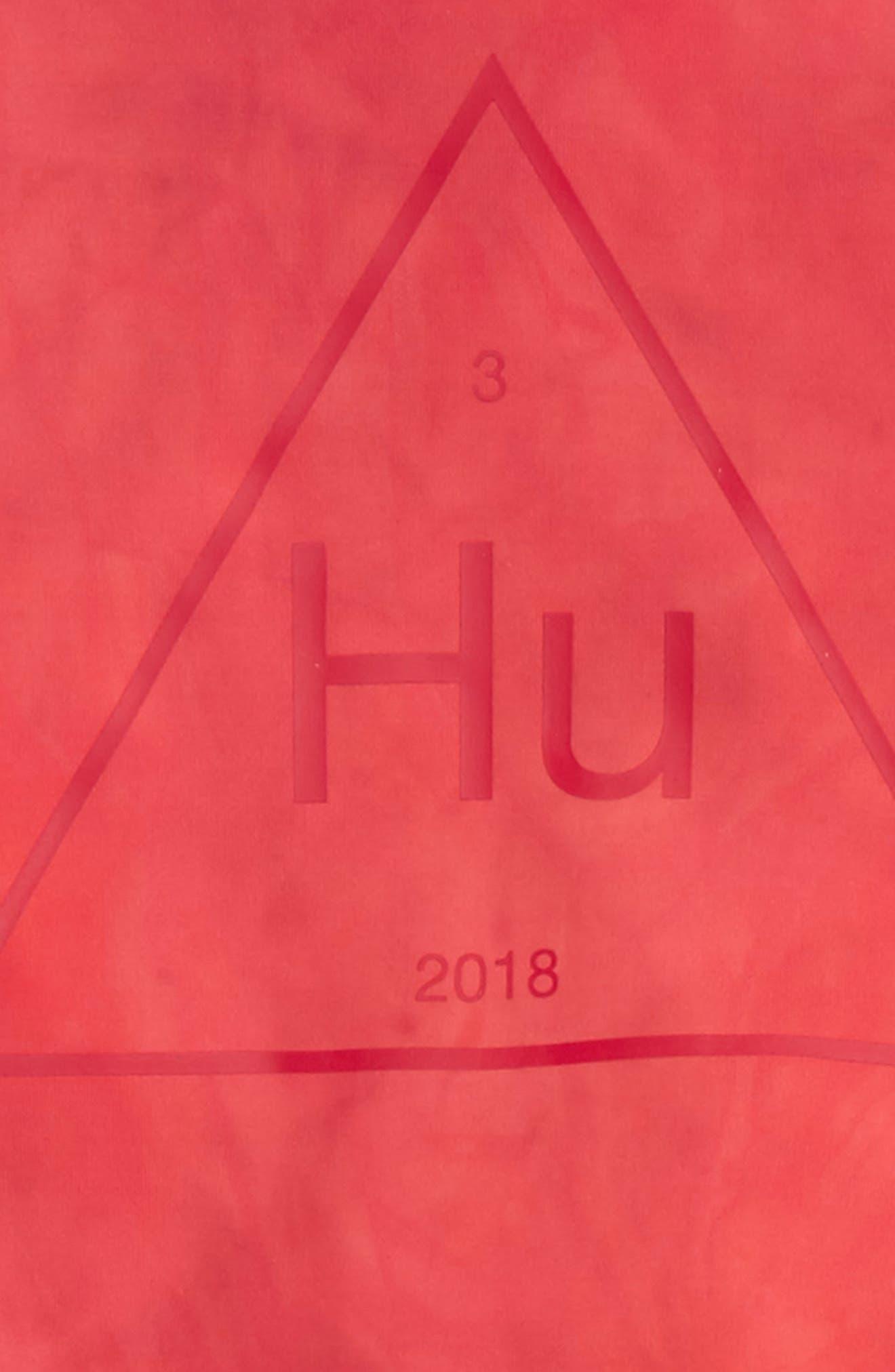 Hu Holi Tracksuit,                             Alternate thumbnail 3, color,                             Scarlet / White