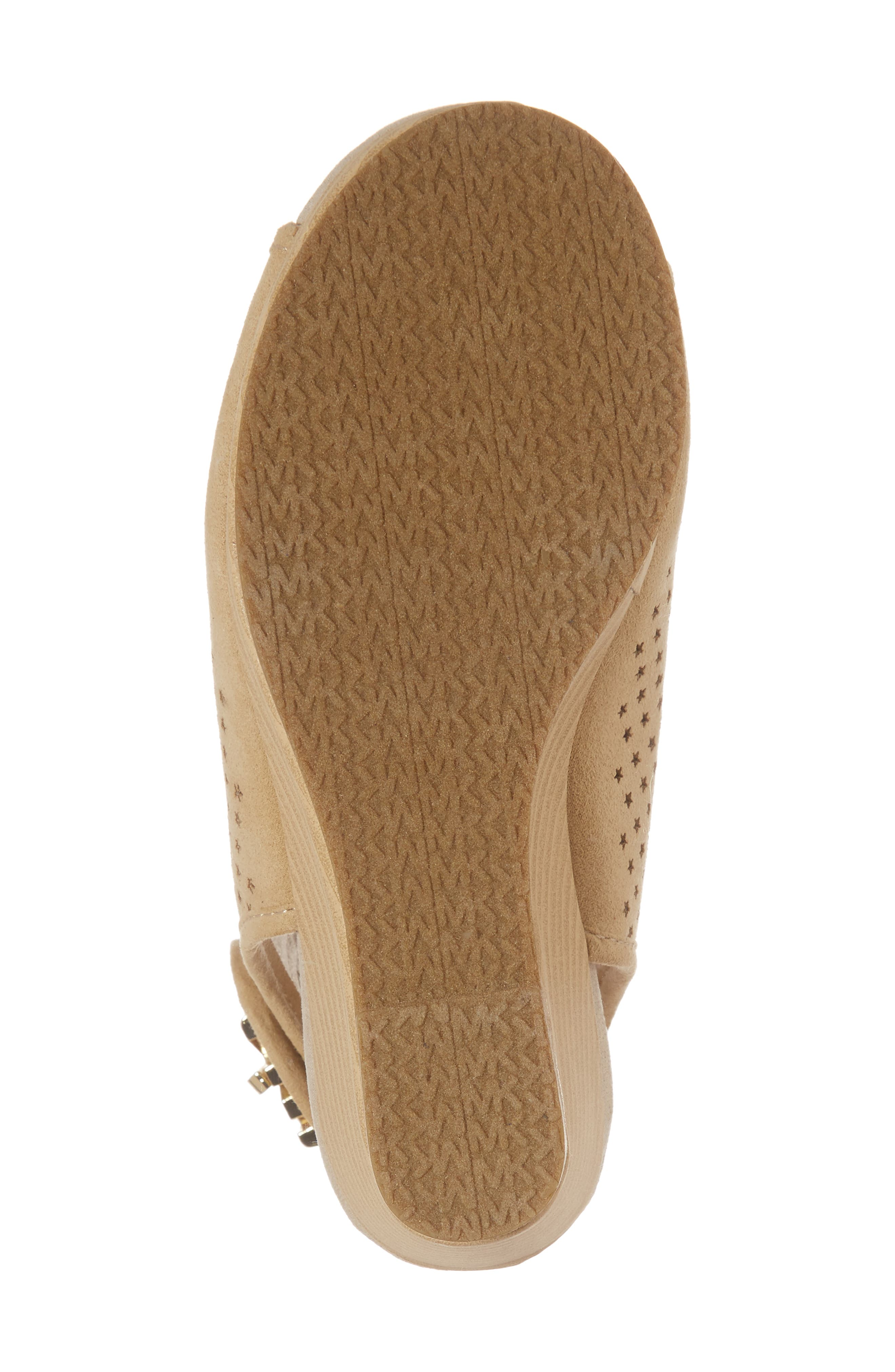 Cate Foe Wedge Sandal,                             Alternate thumbnail 6, color,                             Sand
