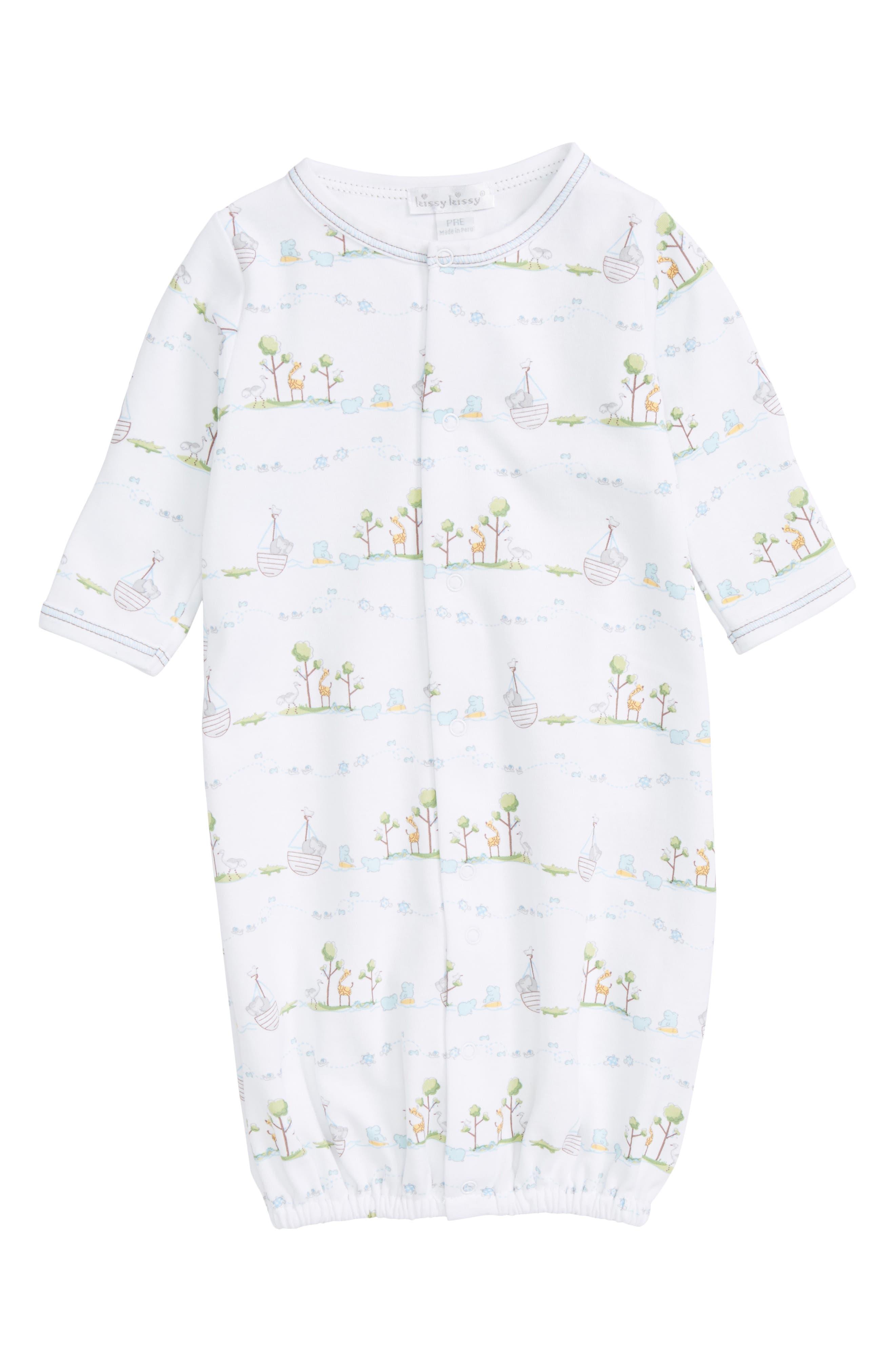 Noah Pima Cotton Convertible Gown,                             Main thumbnail 1, color,                             Light Blue