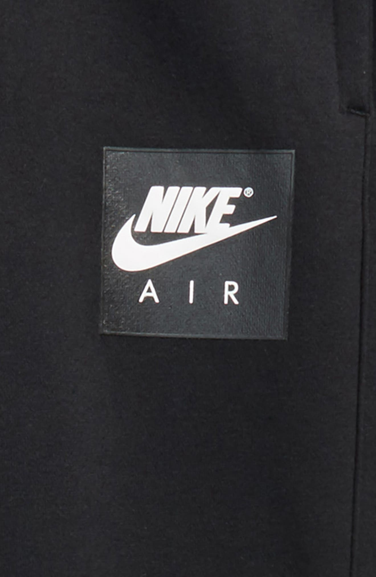 Air Sweatpants,                             Alternate thumbnail 2, color,                             Black/ White