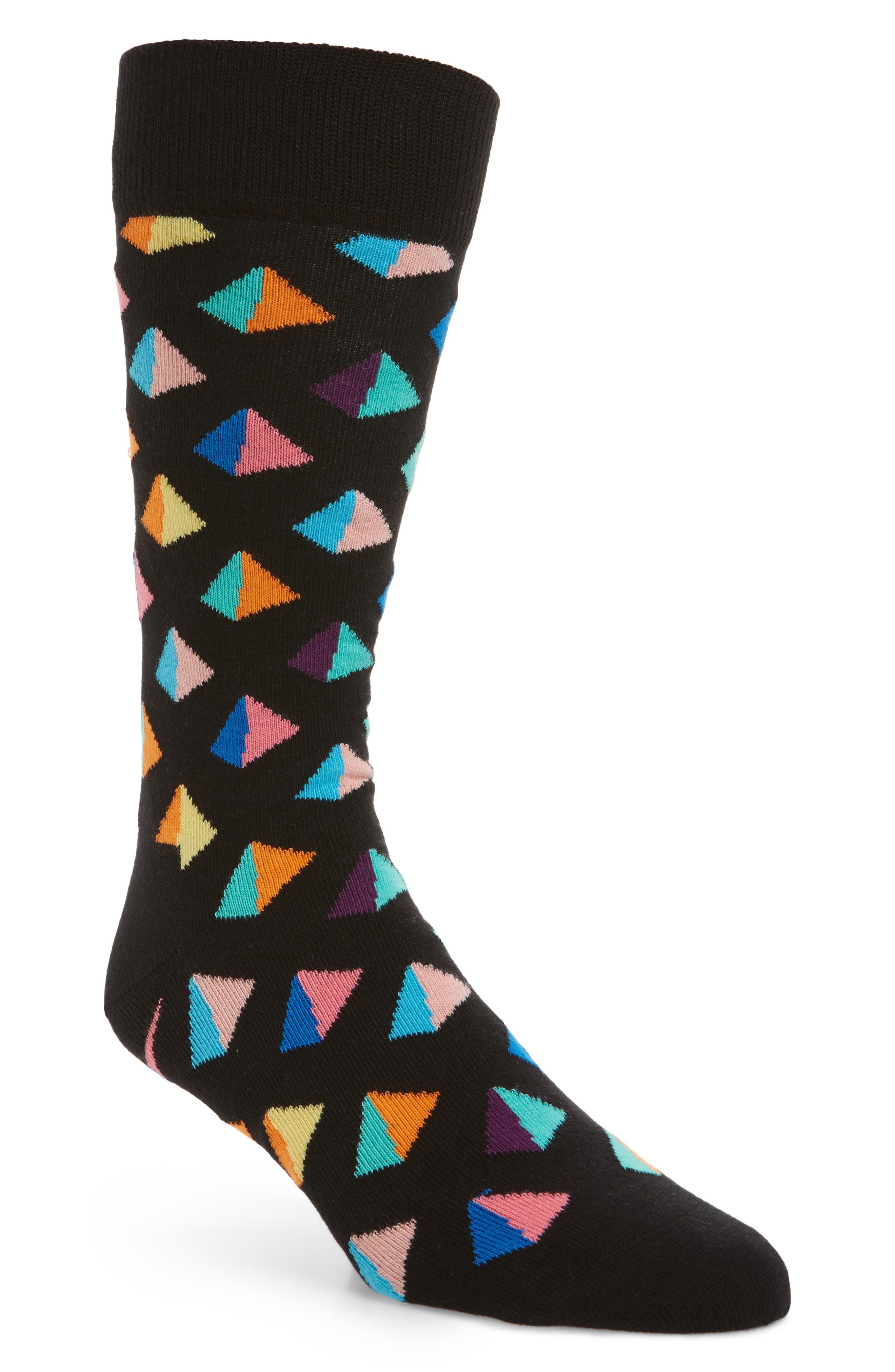 Pyramid Socks,                             Main thumbnail 1, color,                             Black Multi