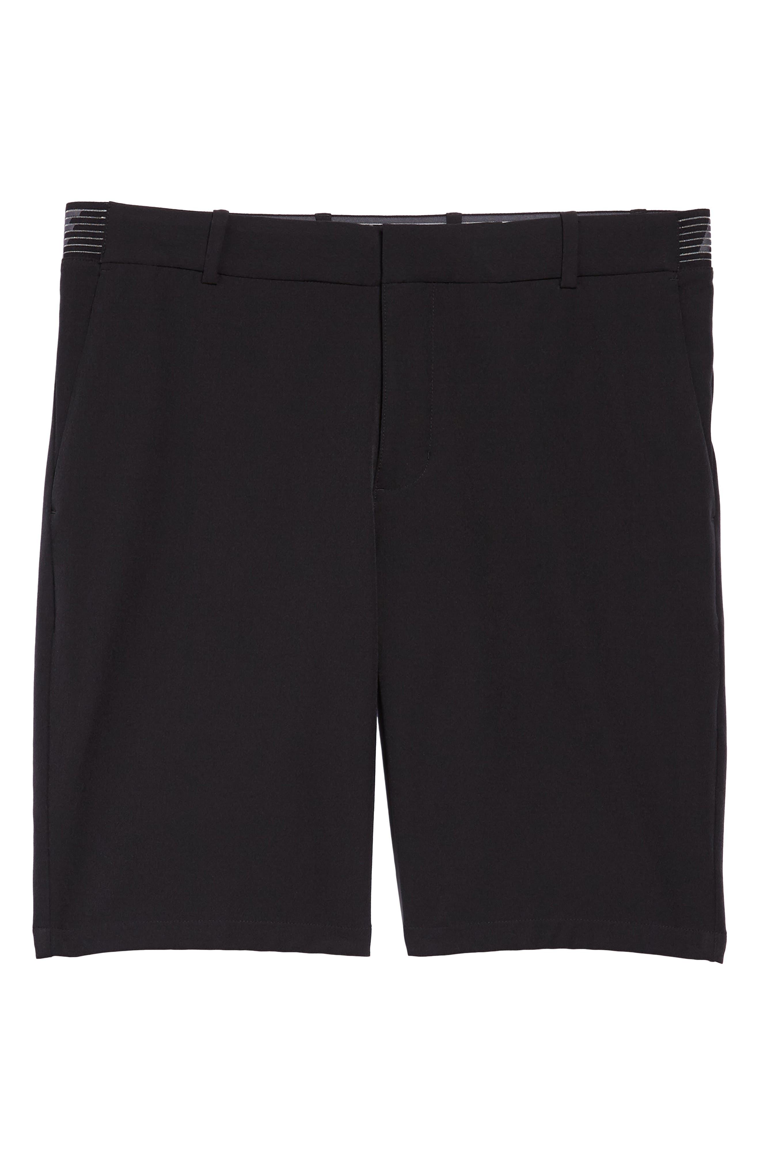 Dry Flex Slim Fit Golf Shorts,                             Alternate thumbnail 6, color,                             Black/ Black
