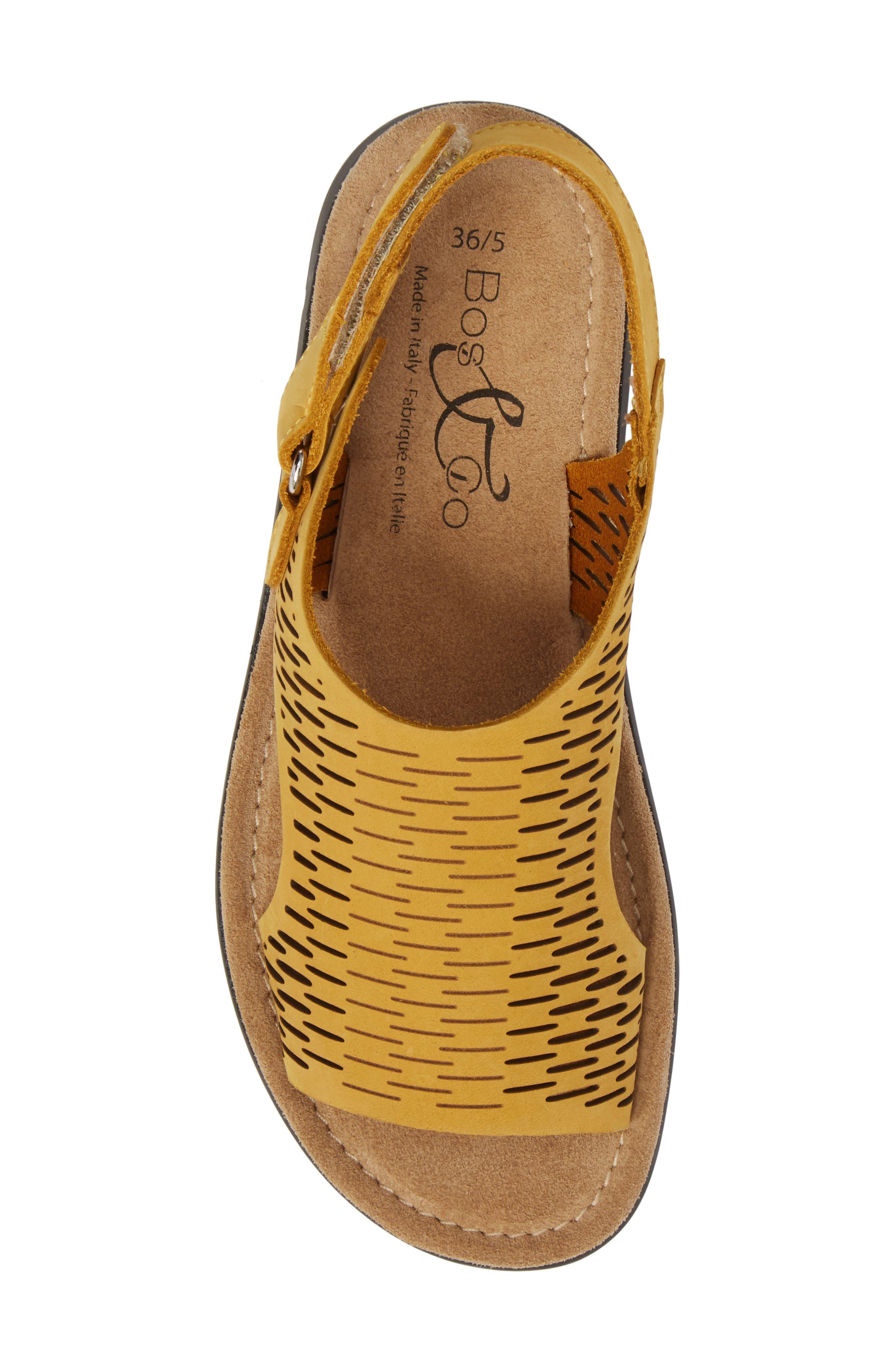 Saga Sandal,                             Alternate thumbnail 5, color,                             Mustard Nubuck Leather
