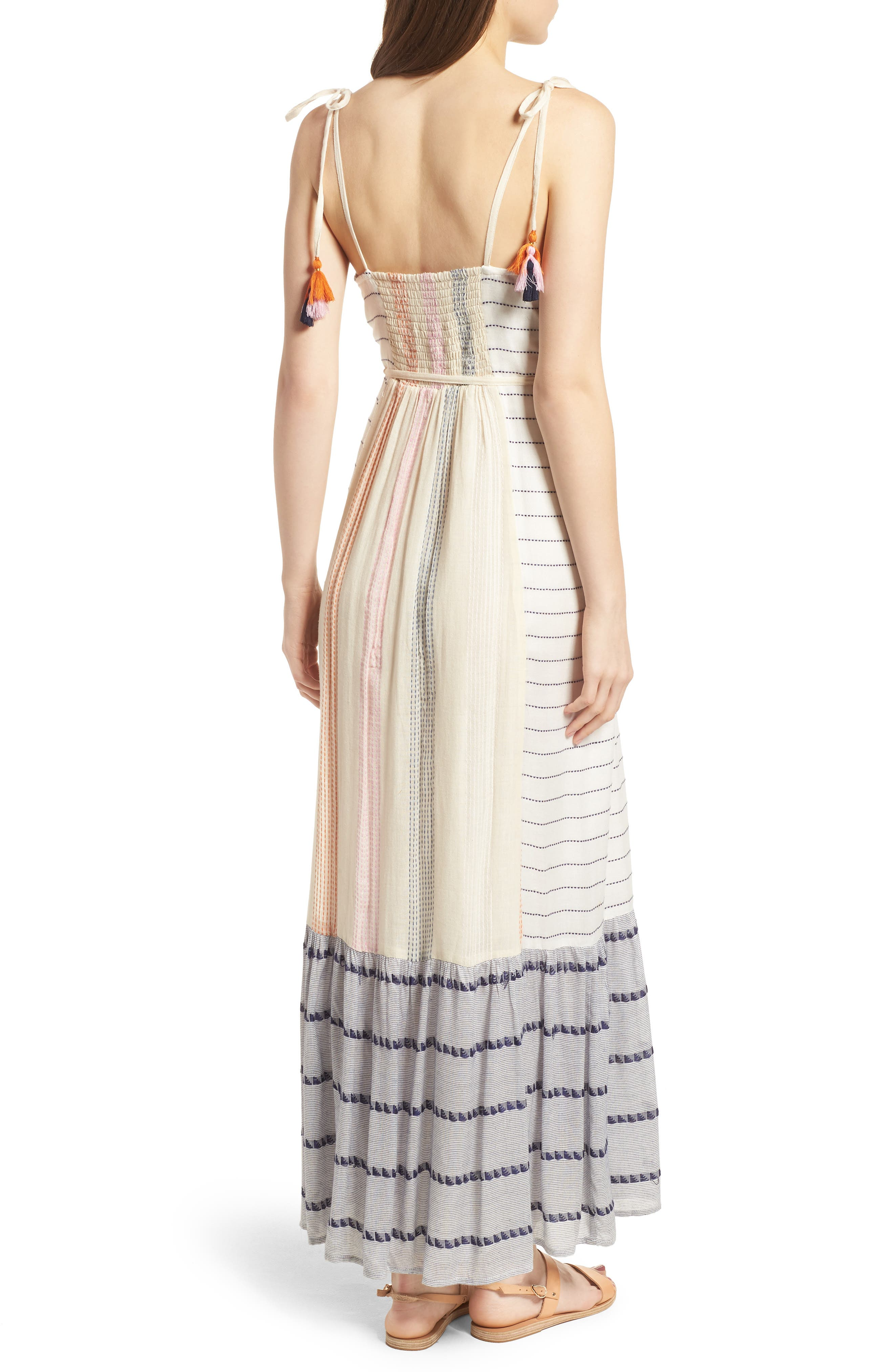 Villa Maxi Dress,                             Alternate thumbnail 2, color,                             Calamar Stripe