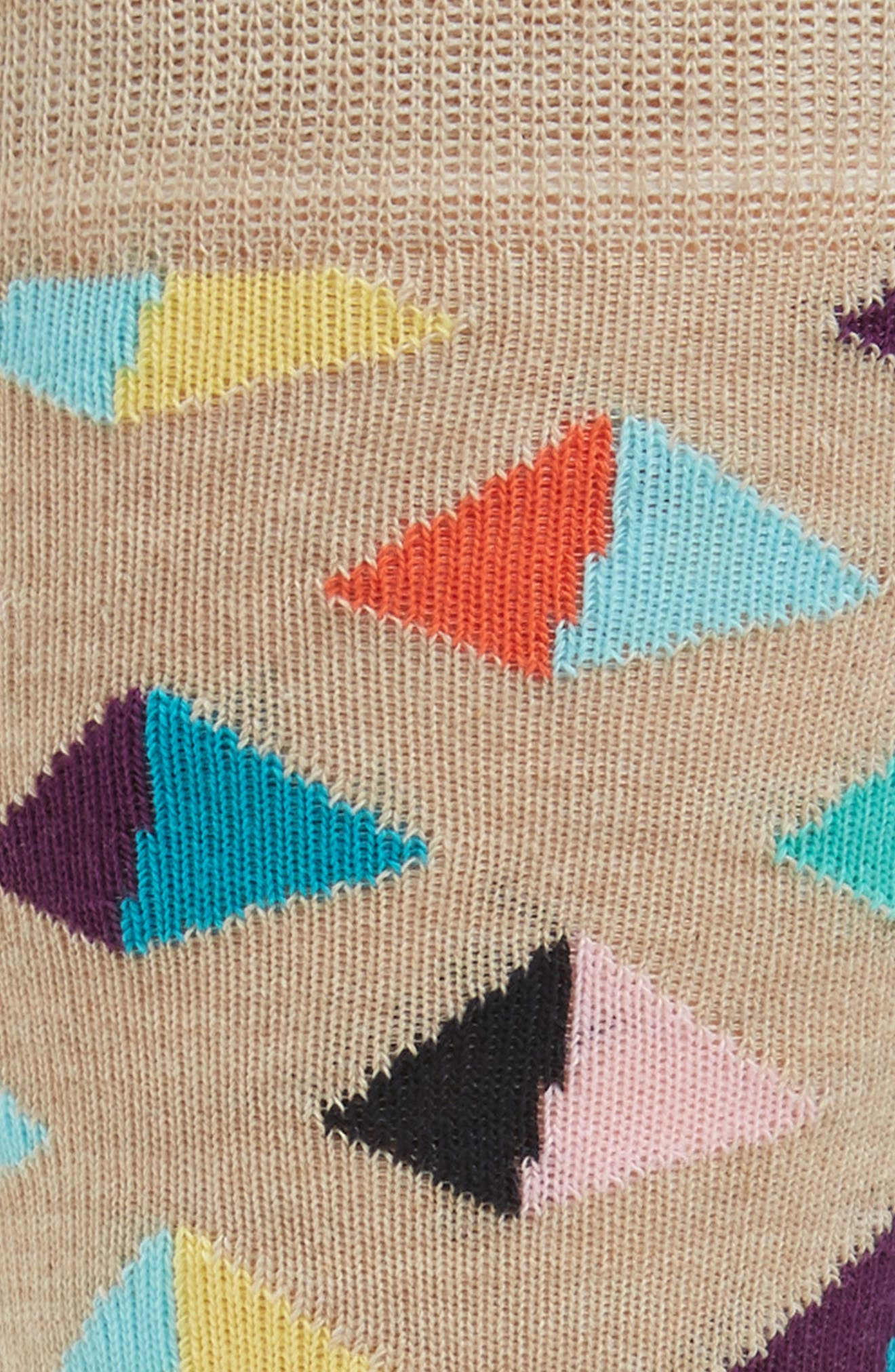 Pyramid Crew Socks,                             Alternate thumbnail 2, color,                             Light Beige