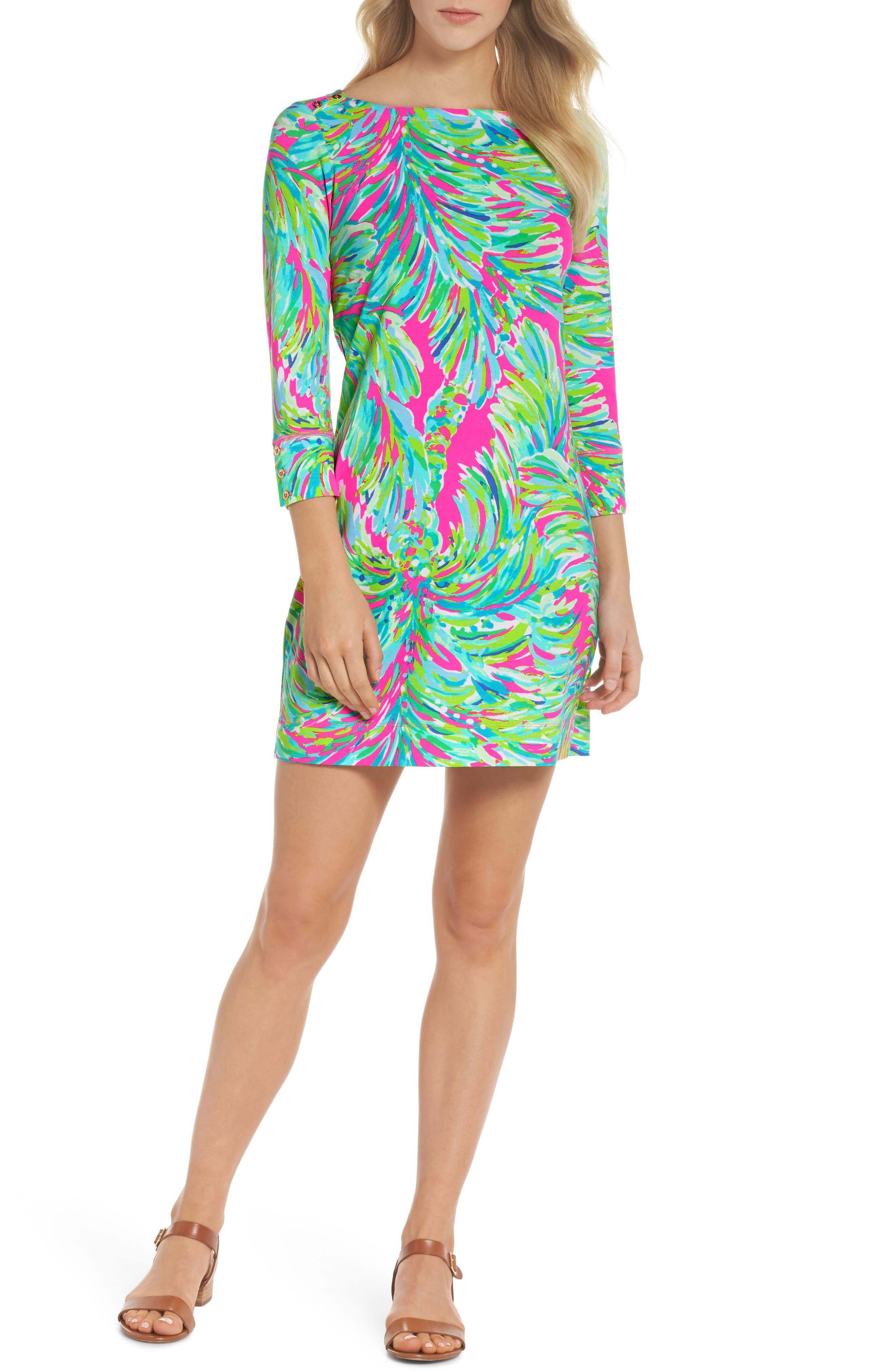 Sophie Shift Dress,                         Main,                         color, Raz Berry Shady Lady