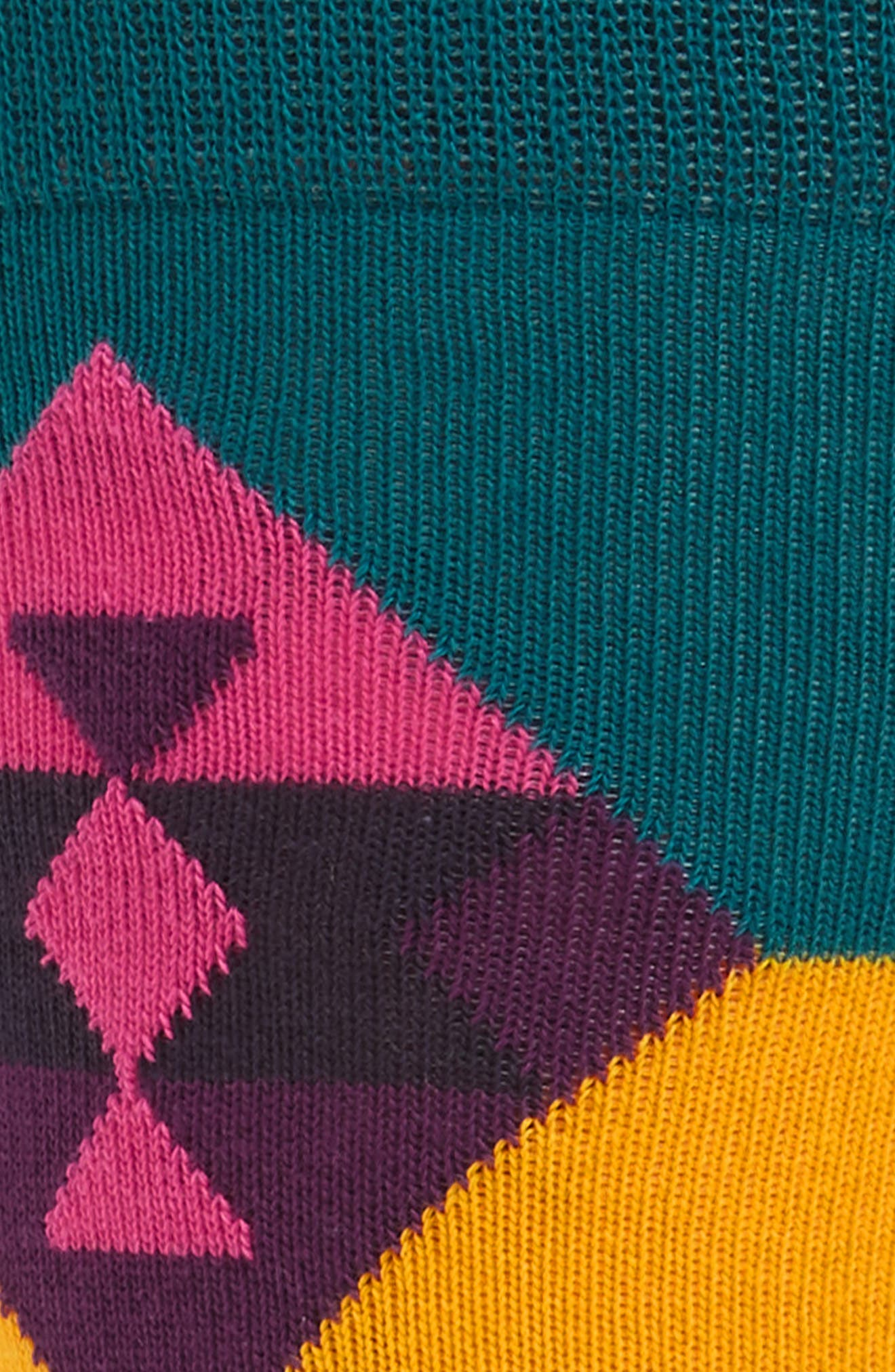 Inca Pattern Socks,                             Alternate thumbnail 2, color,                             Teal Multi