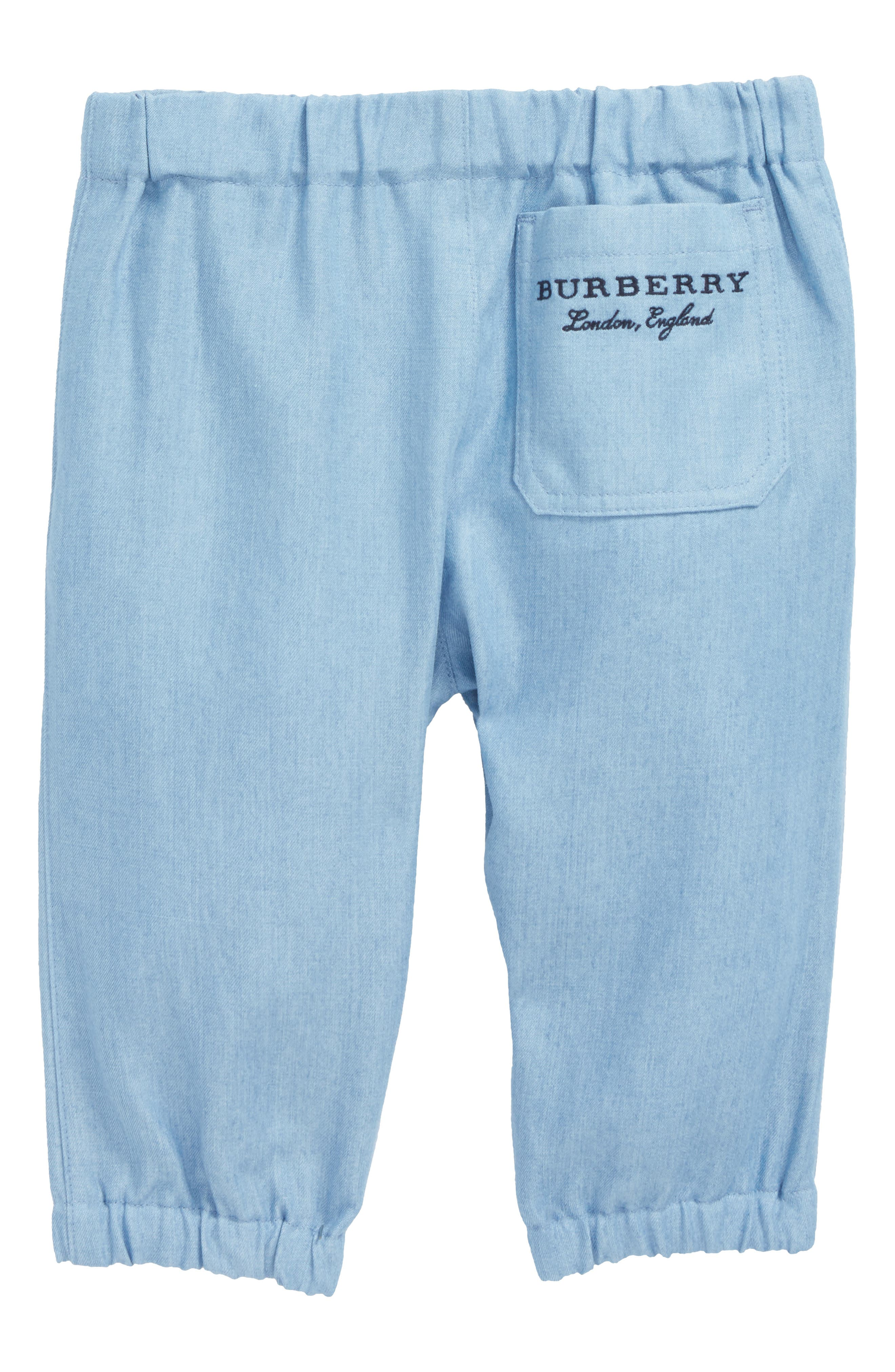 Mini Phillie Chambray Pants,                             Alternate thumbnail 3, color,                             Steel Blue