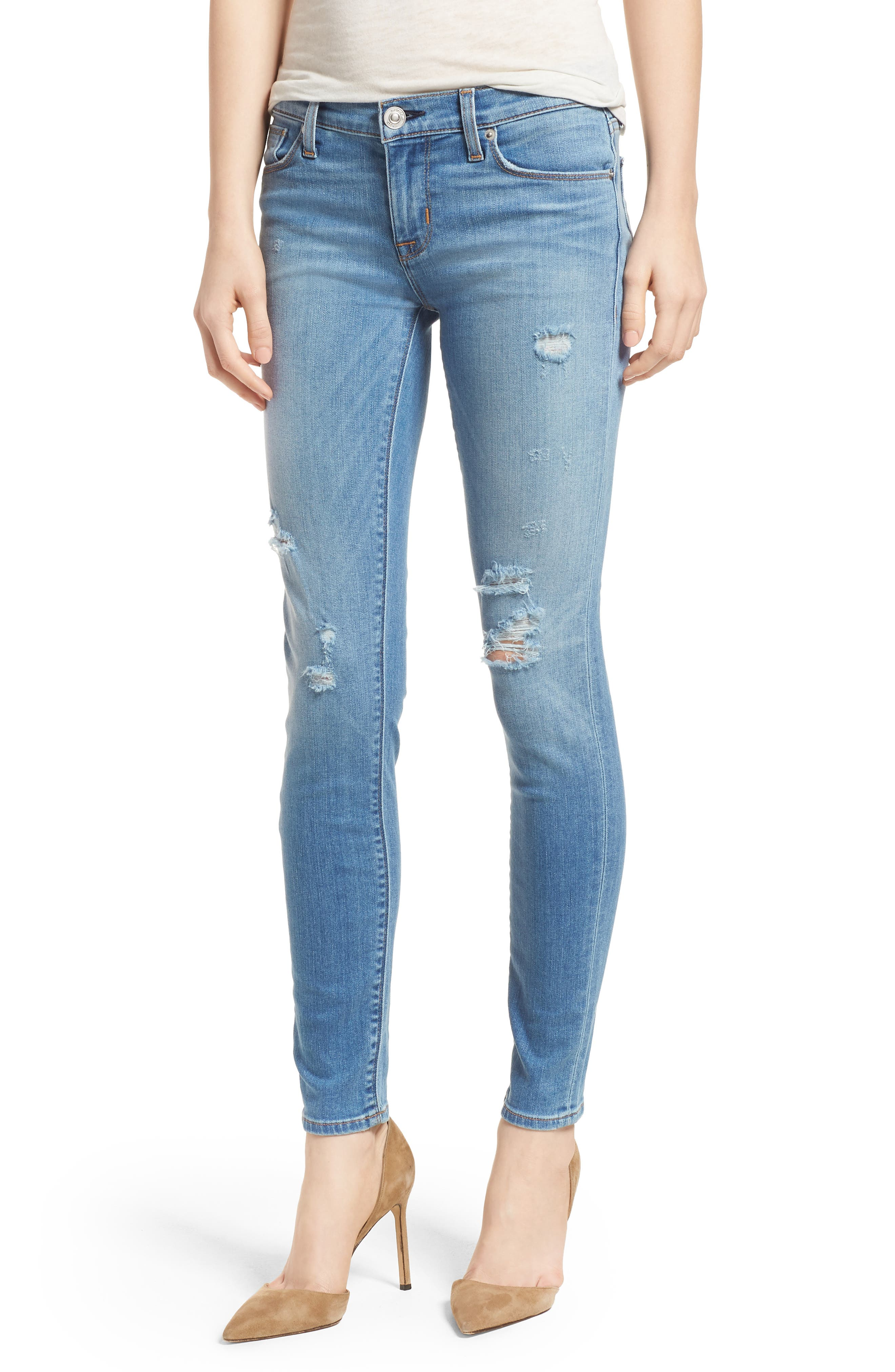 Krista Ankle Super Skinny Jeans,                             Main thumbnail 1, color,                             No Tears