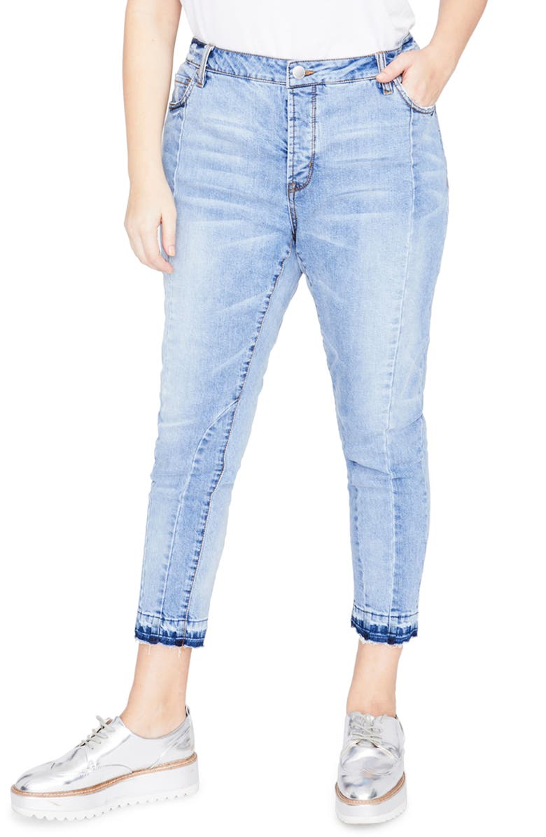 Curvy Seamed Crop Jeans