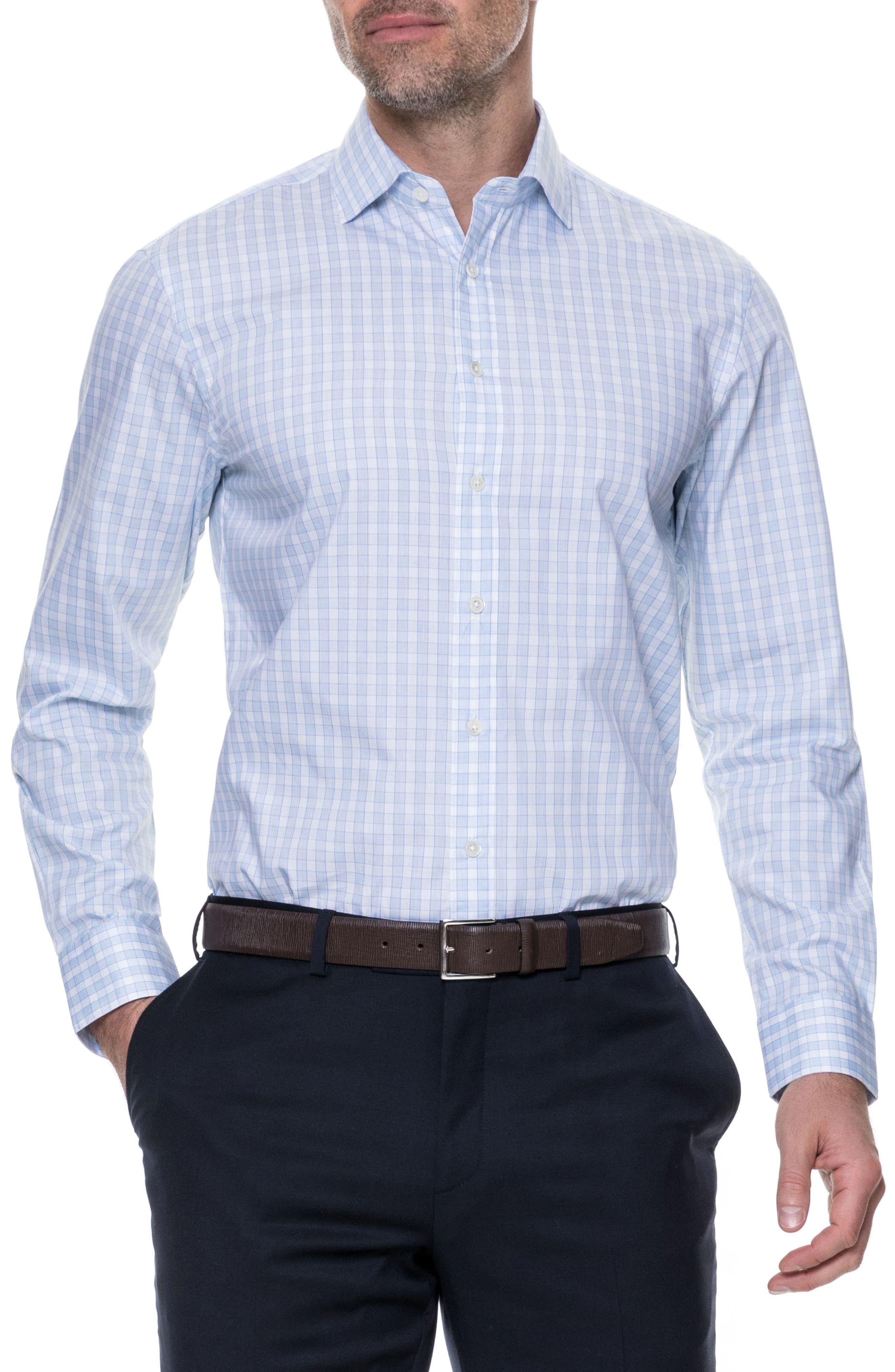 Brackley Slim Fit Sport Shirt,                             Main thumbnail 1, color,                             Sky