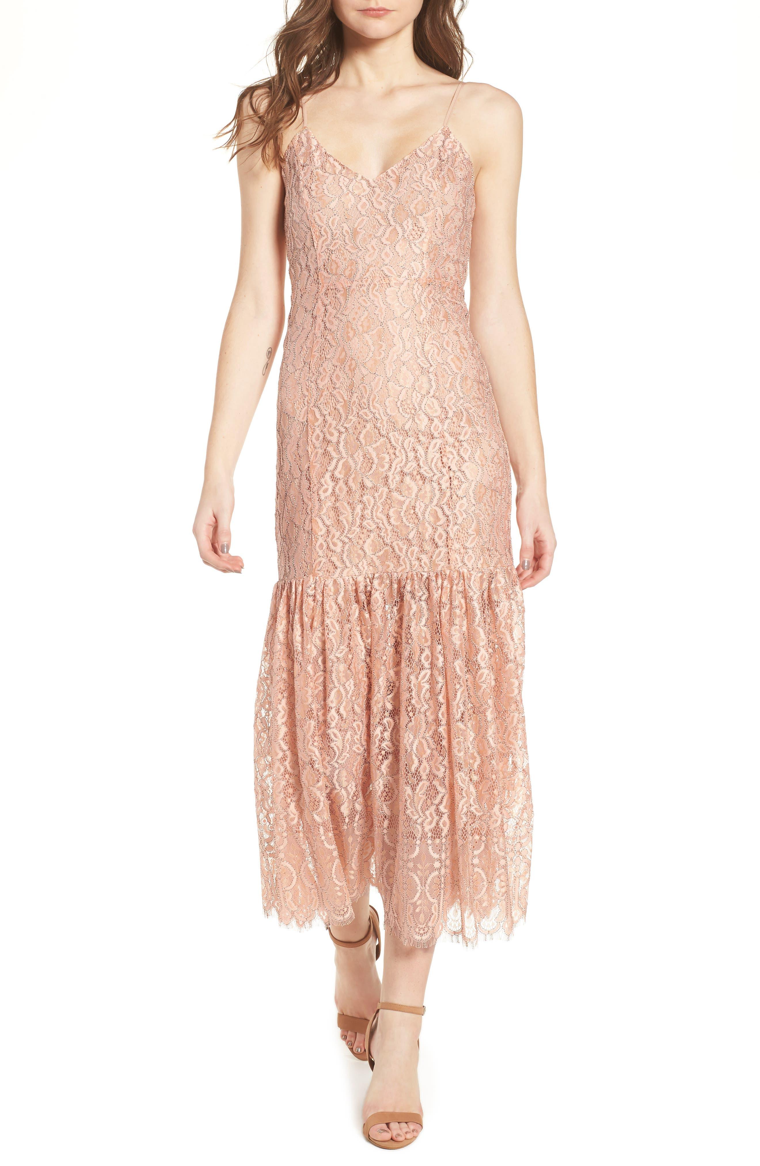 NBD Brielle Lace Midi Dress