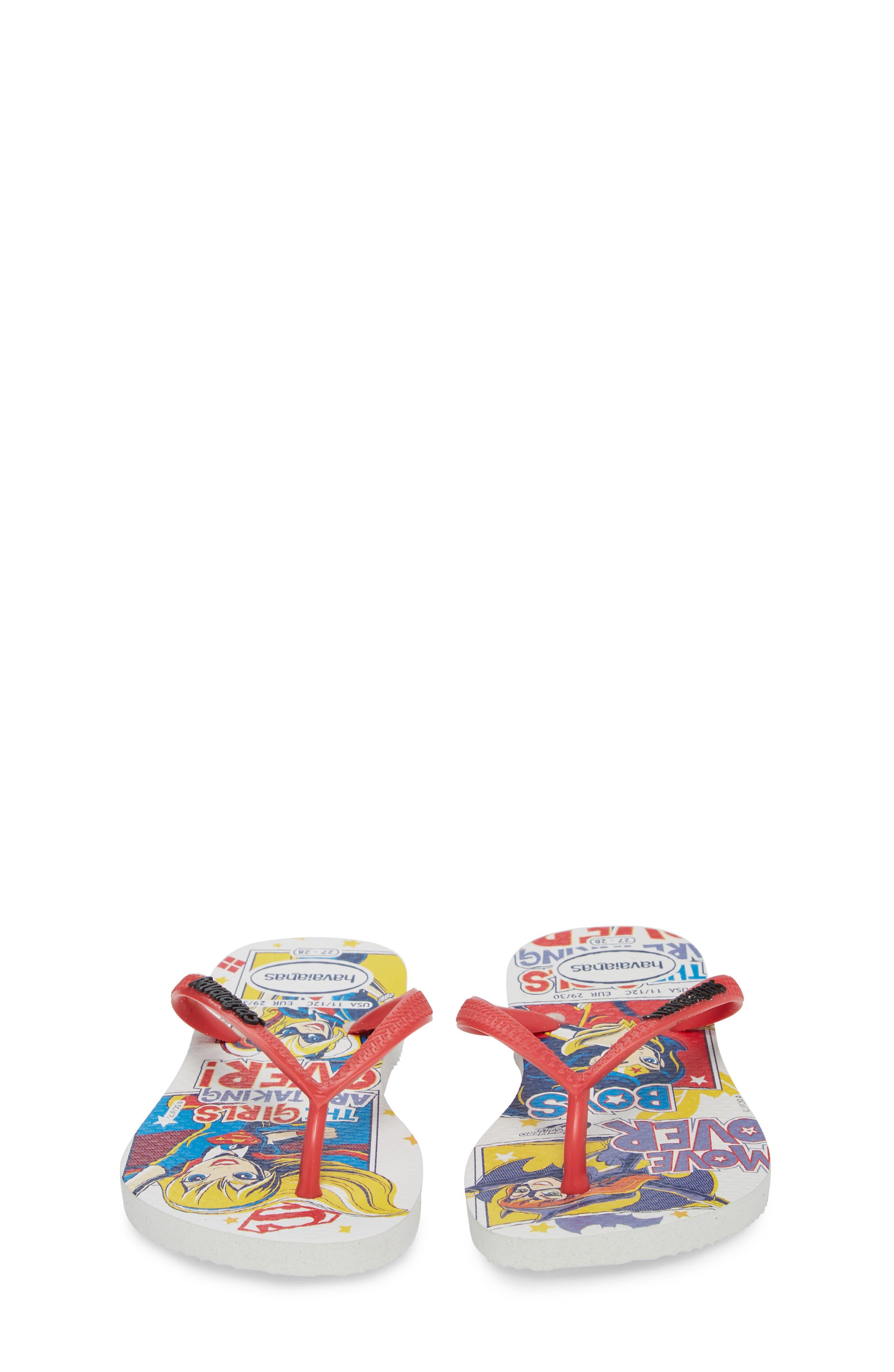 DC Comics Super Hero Girls Flip Flop,                             Alternate thumbnail 5, color,                             White