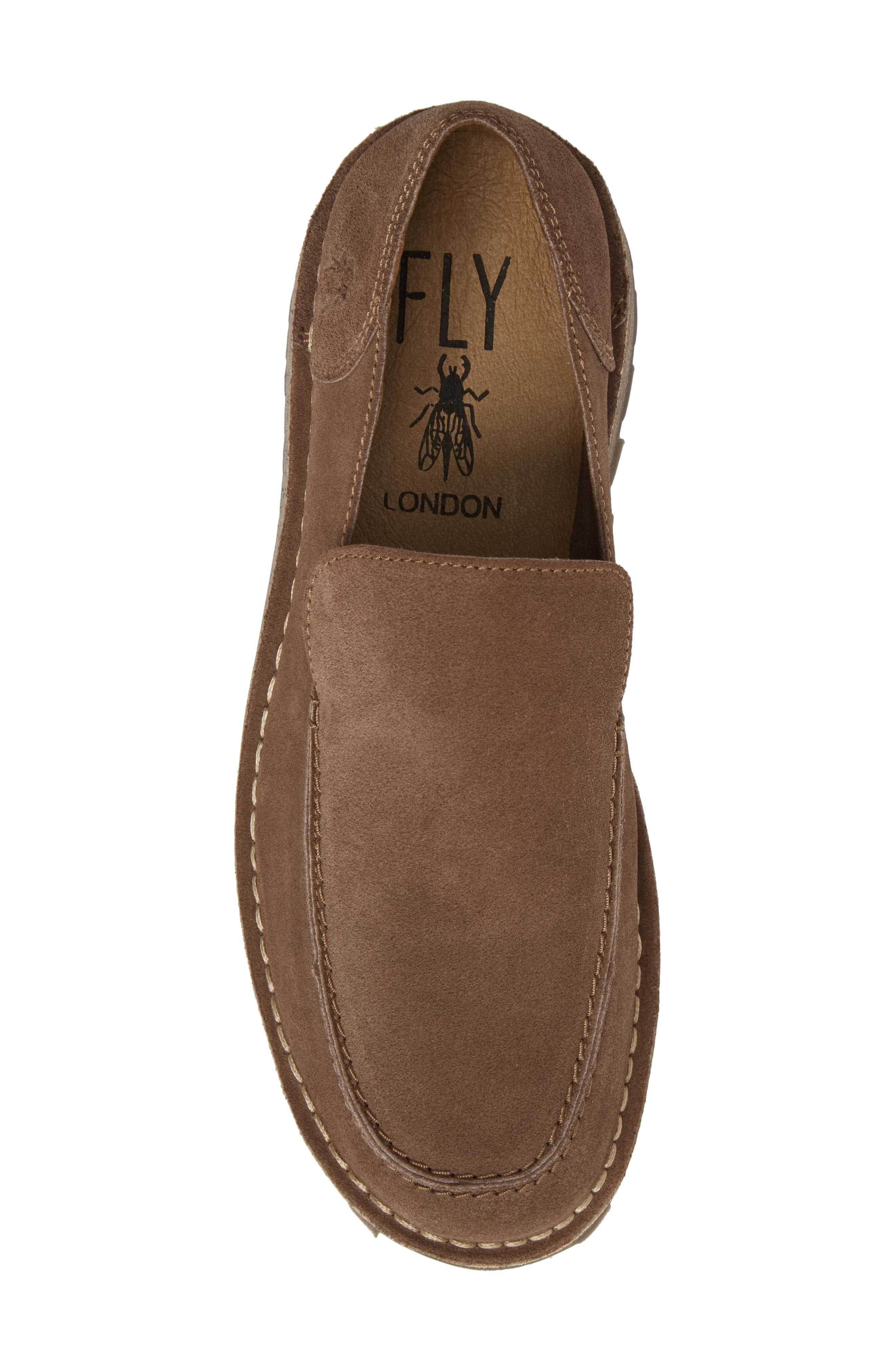 Meve Moc Toe Loafer,                             Alternate thumbnail 5, color,                             Taupe Suede