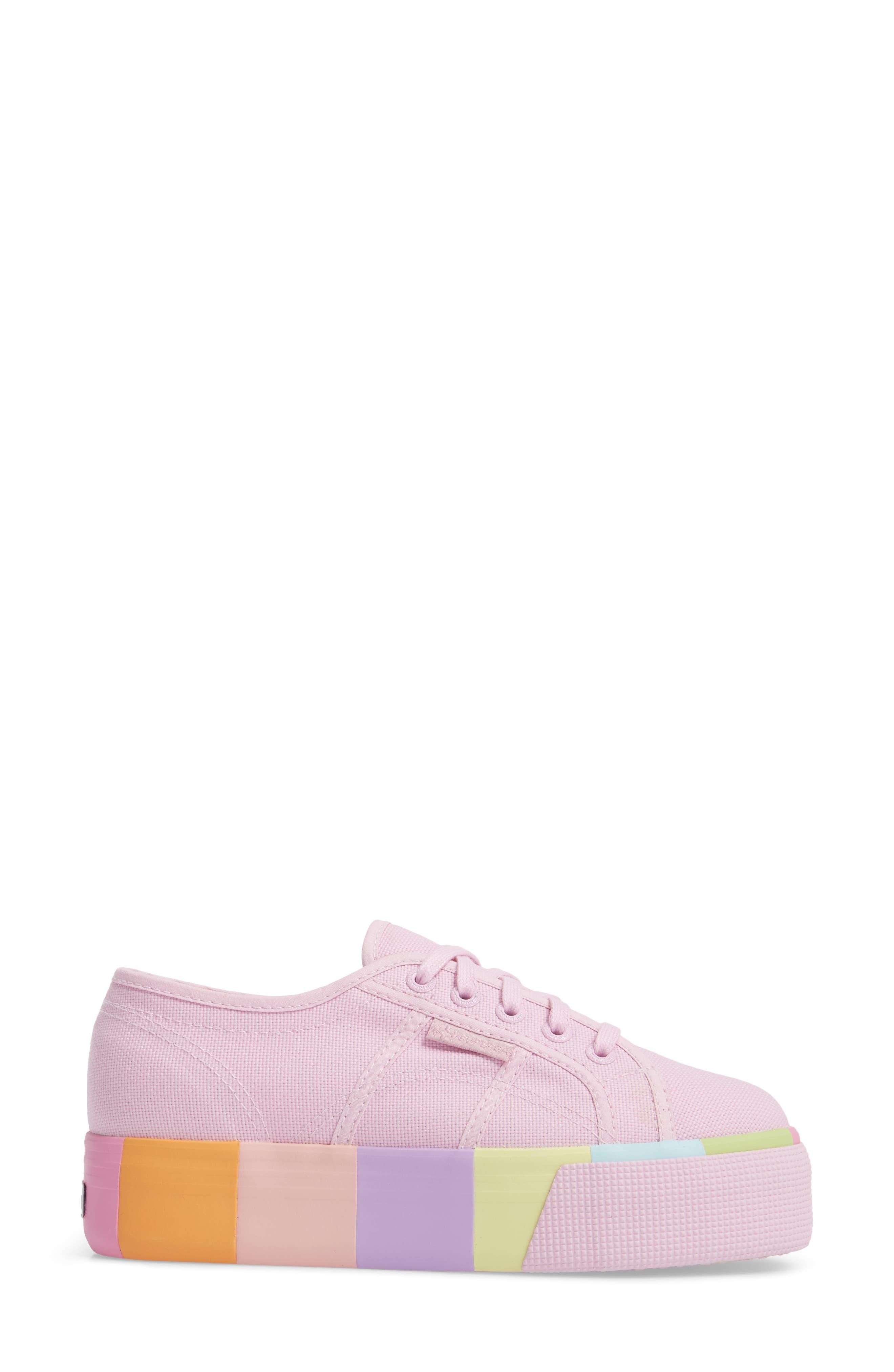 2790 Platform Sneaker,                             Alternate thumbnail 3, color,                             Pink