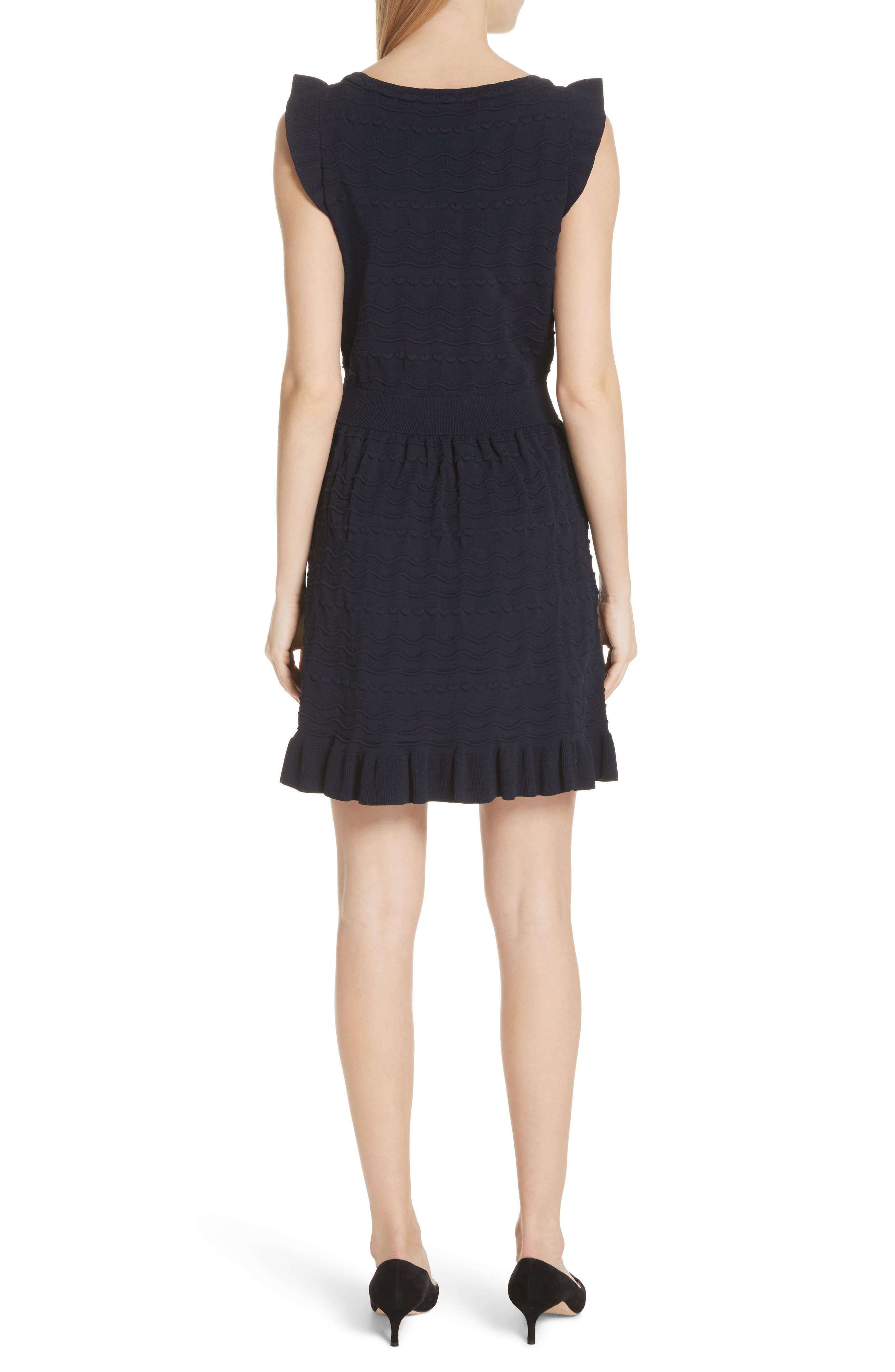 kate spade textured sweater dress,                             Alternate thumbnail 2, color,                             Rich Navy