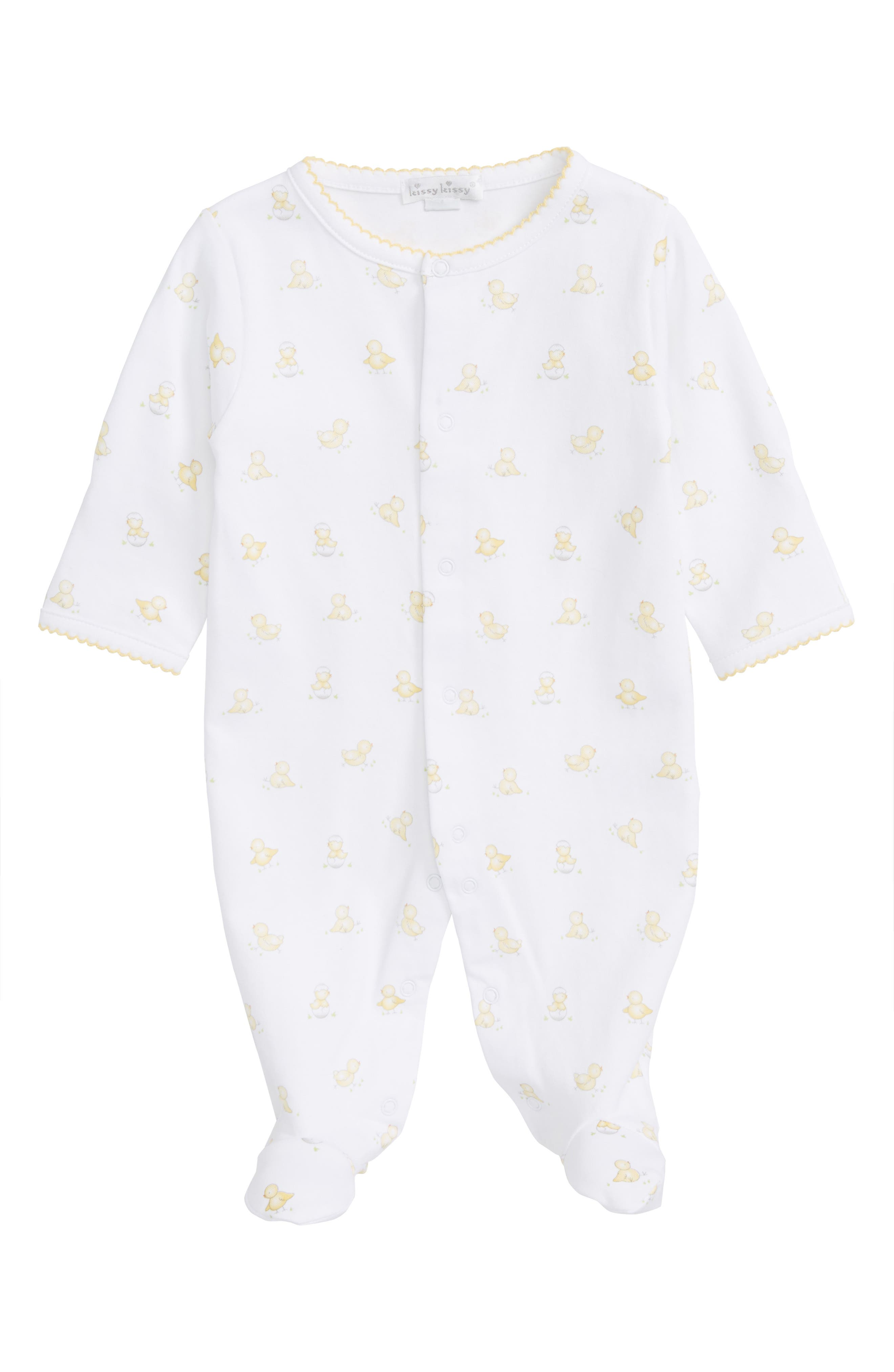Kissy Kissy Hatchlings Pima Cotton Footie (Baby)
