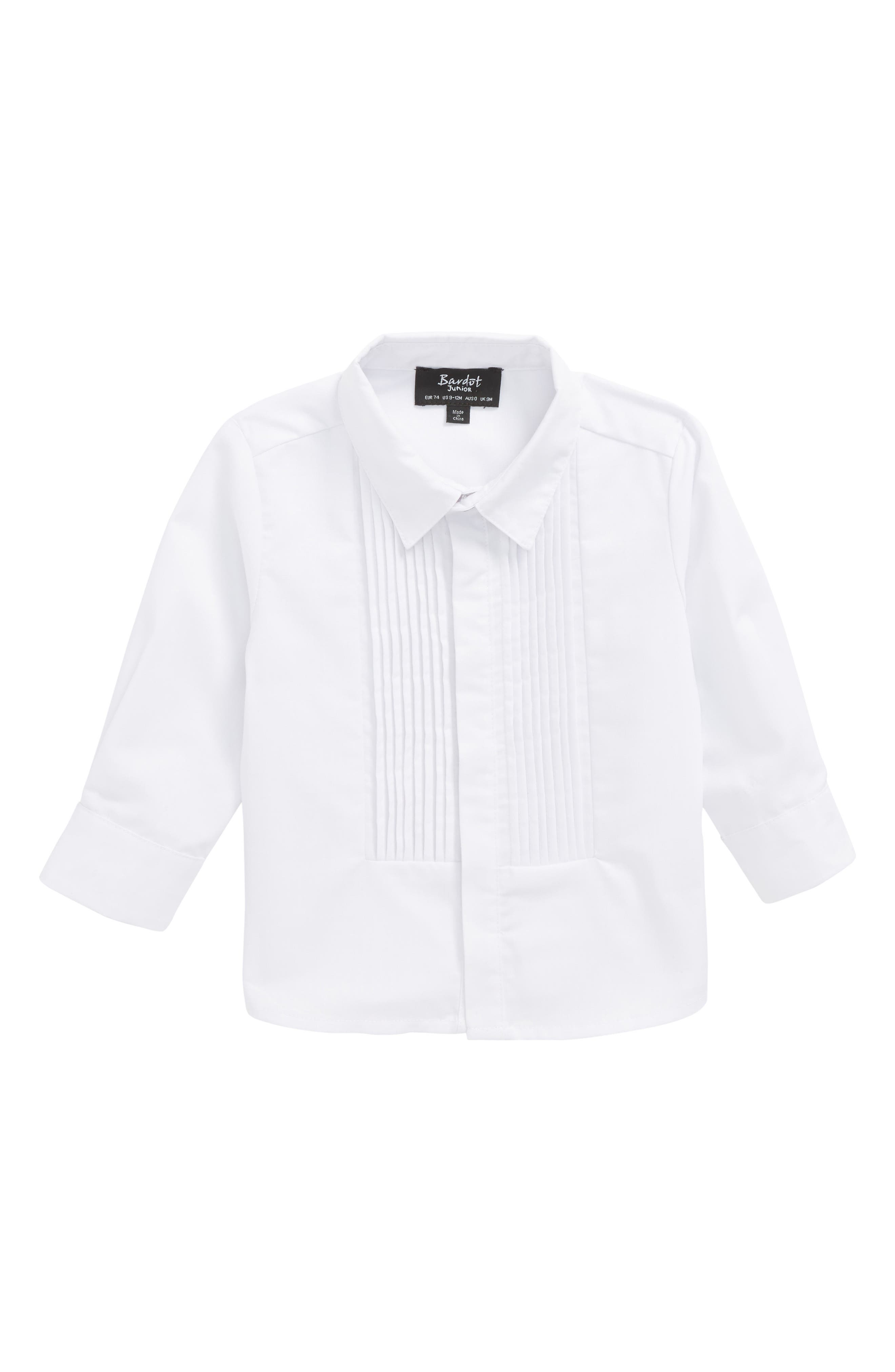 Alternate Image 1 Selected - Bardot Junior Tuxedo Shirt (Baby Boys)