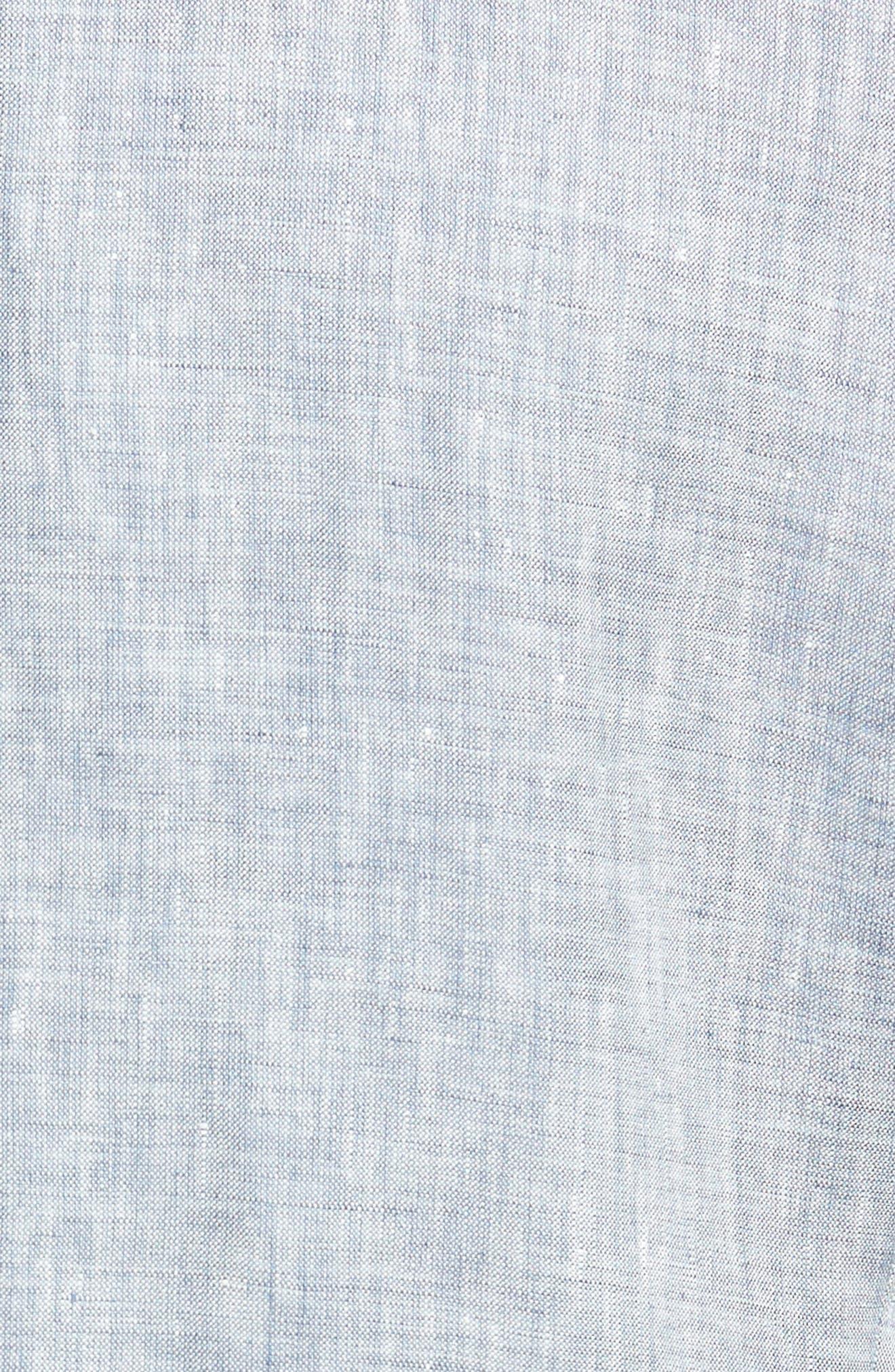 Helford/Gander Trim Fit Solid Linen Suit,                             Alternate thumbnail 7, color,                             Light Blue