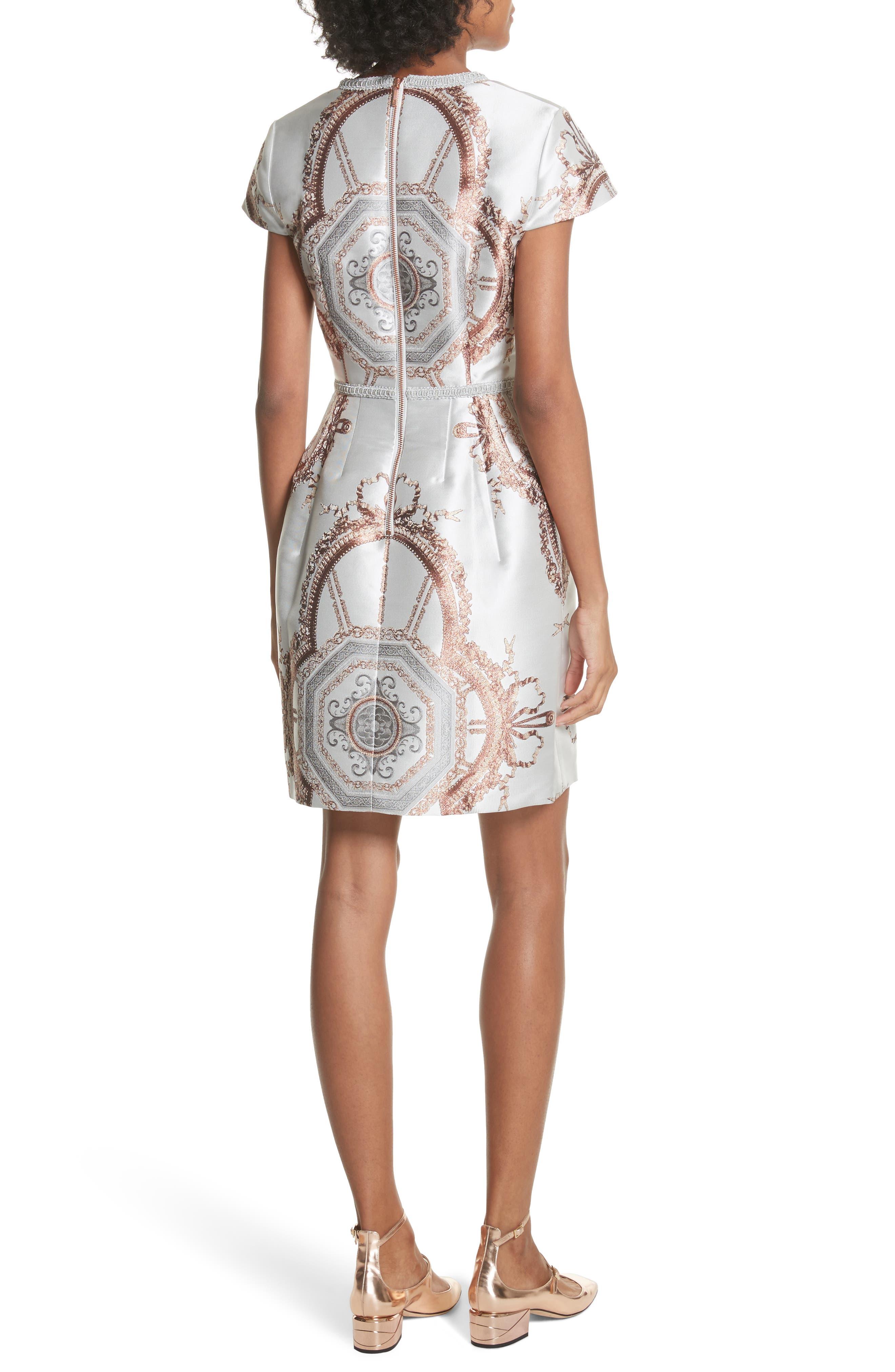 Versailles Dress,                             Alternate thumbnail 2, color,                             White
