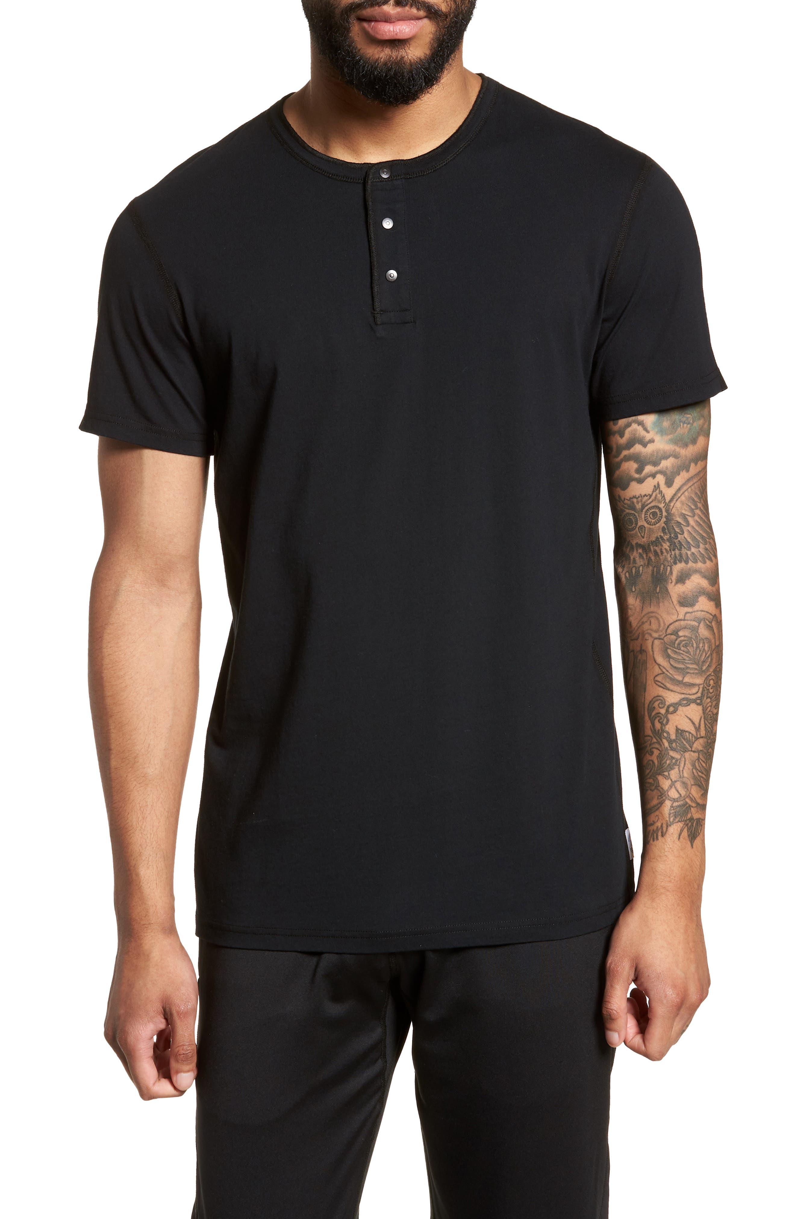 Jersey Henley,                         Main,                         color, Black
