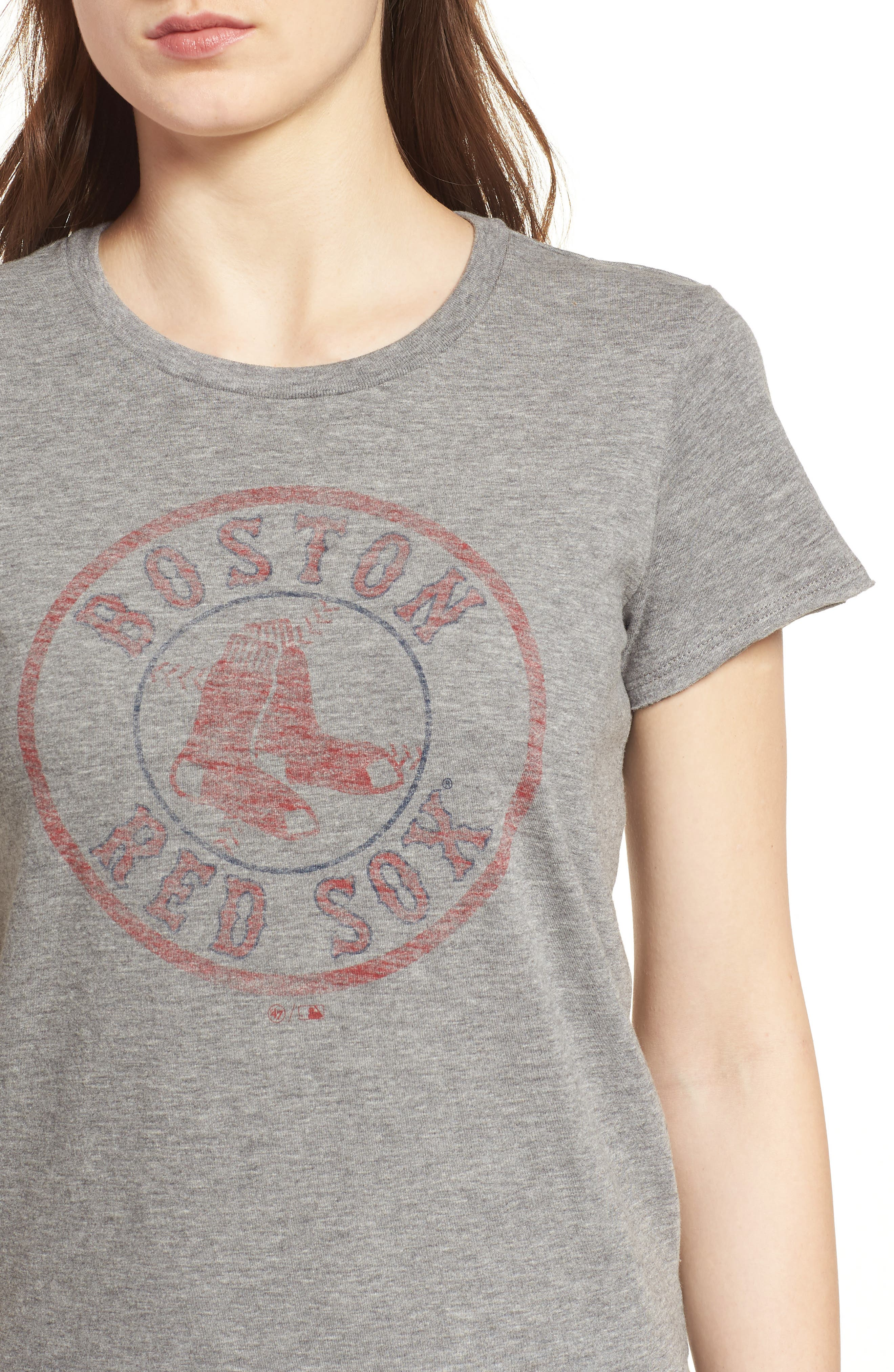 Boston Red Sox Fader Letter Tee,                             Alternate thumbnail 4, color,                             Slate Grey