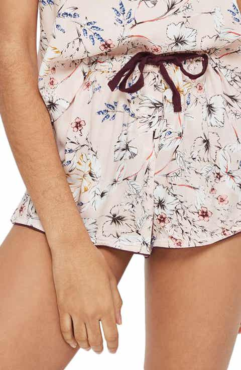 Topshop Sketchy Floral Pajama Shorts