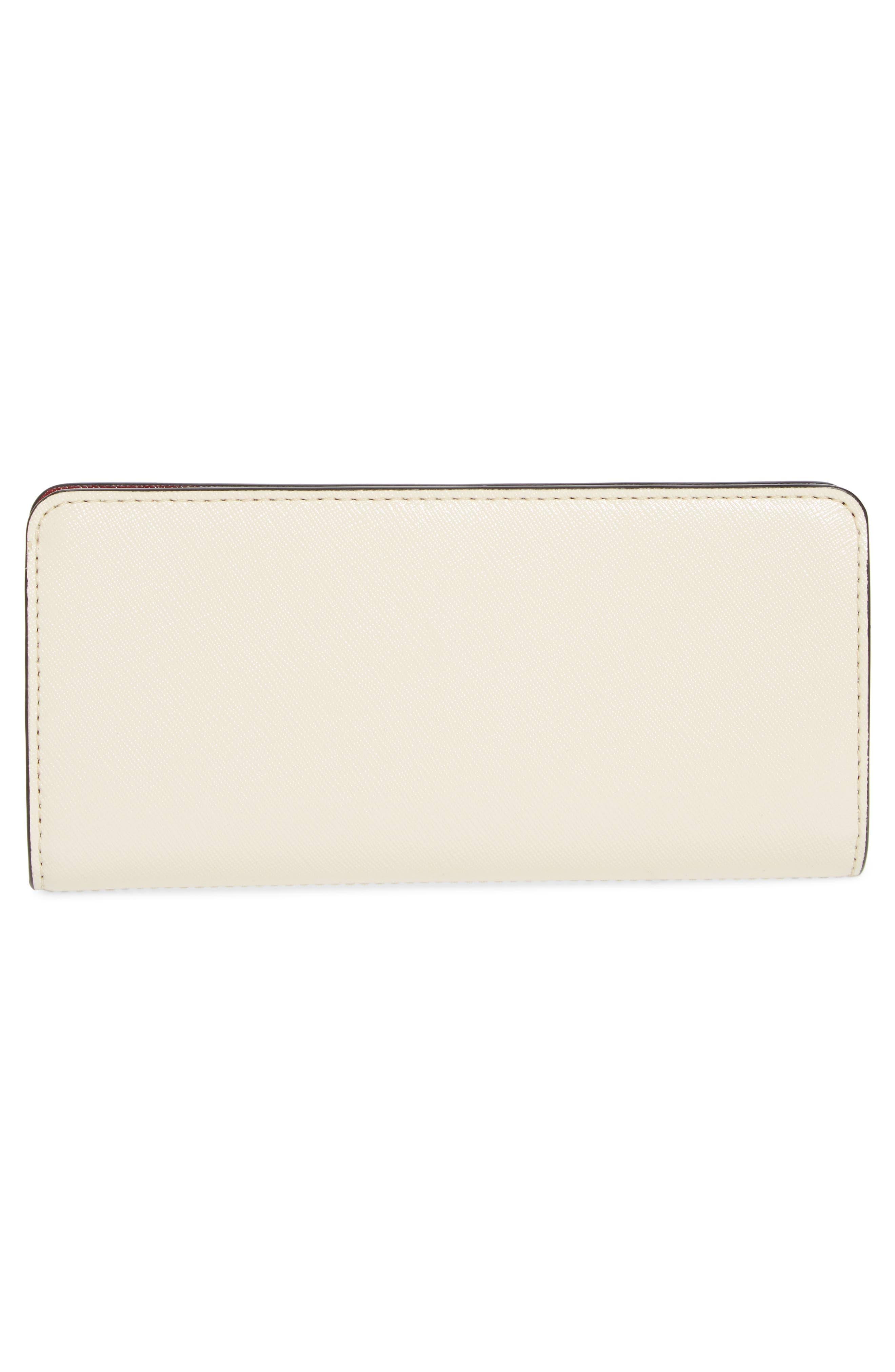 Snapshot Open Face Leather Wallet,                             Alternate thumbnail 4, color,                             Light Slate Multi