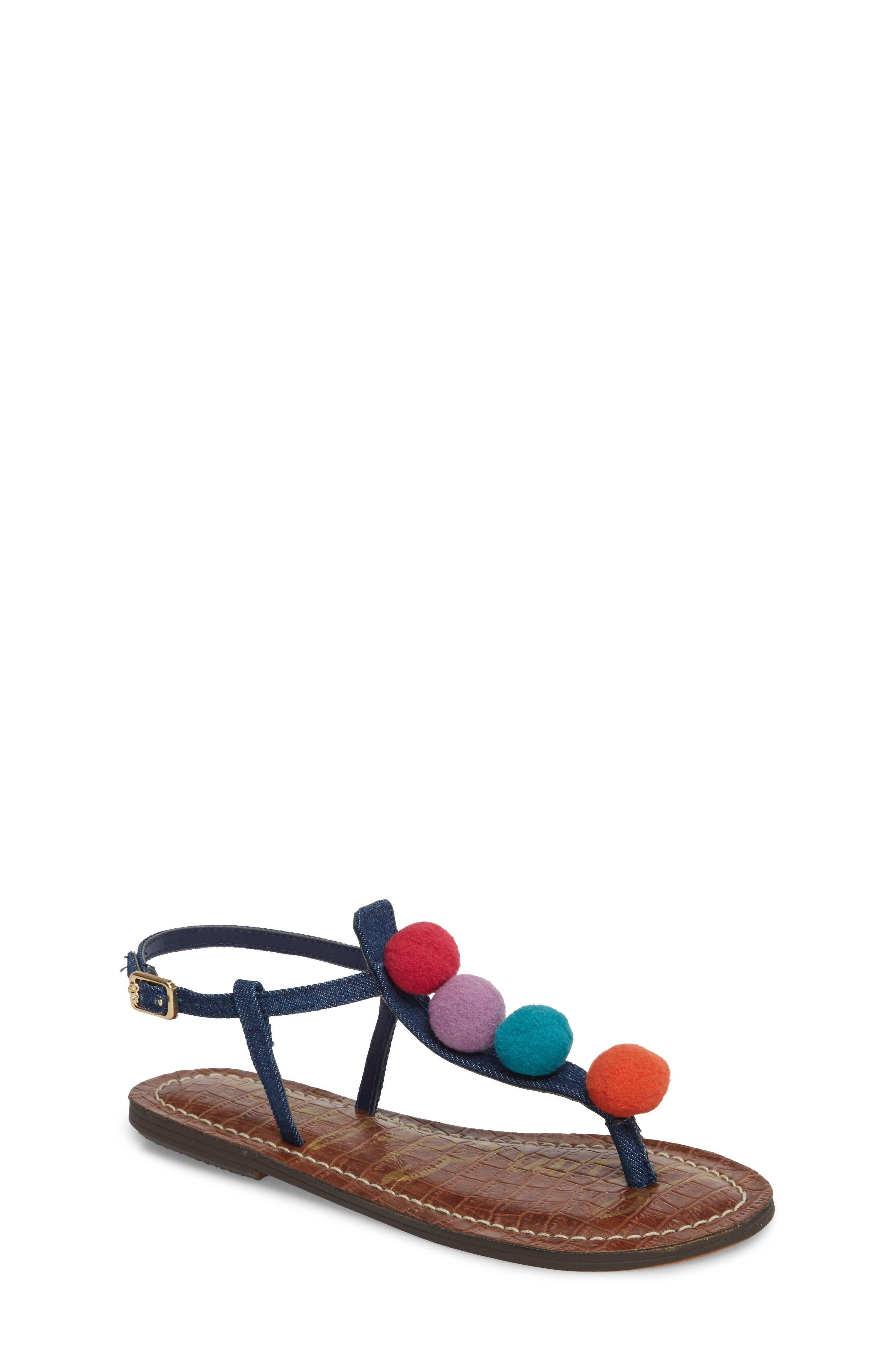 Gigi Gabe Sandal,                         Main,                         color, Denim Fabric