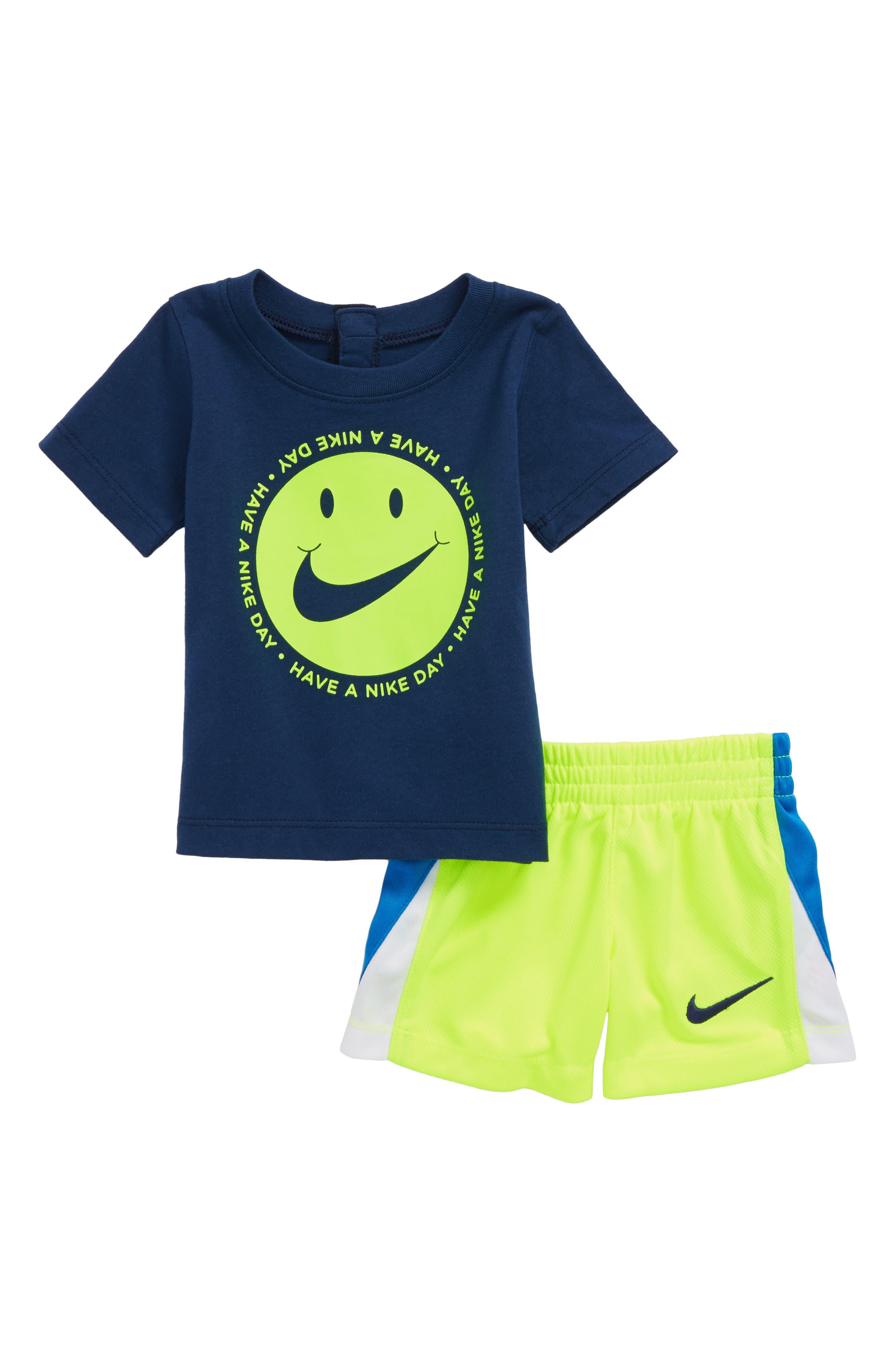 DNA T-Shirt & Shorts Set,                         Main,                         color, Navy