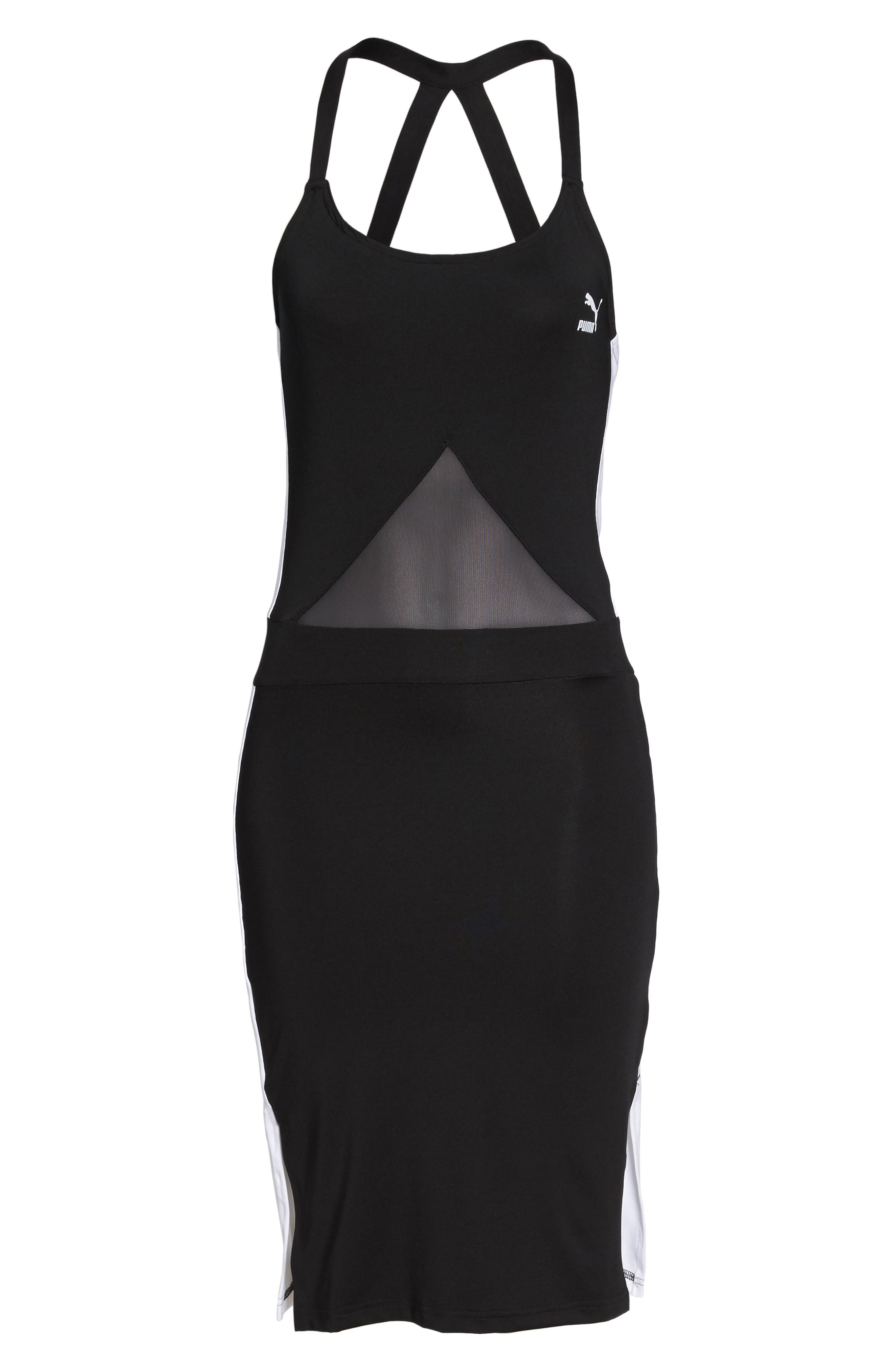 Archive T7 Dress,                             Alternate thumbnail 7, color,                             Puma Black