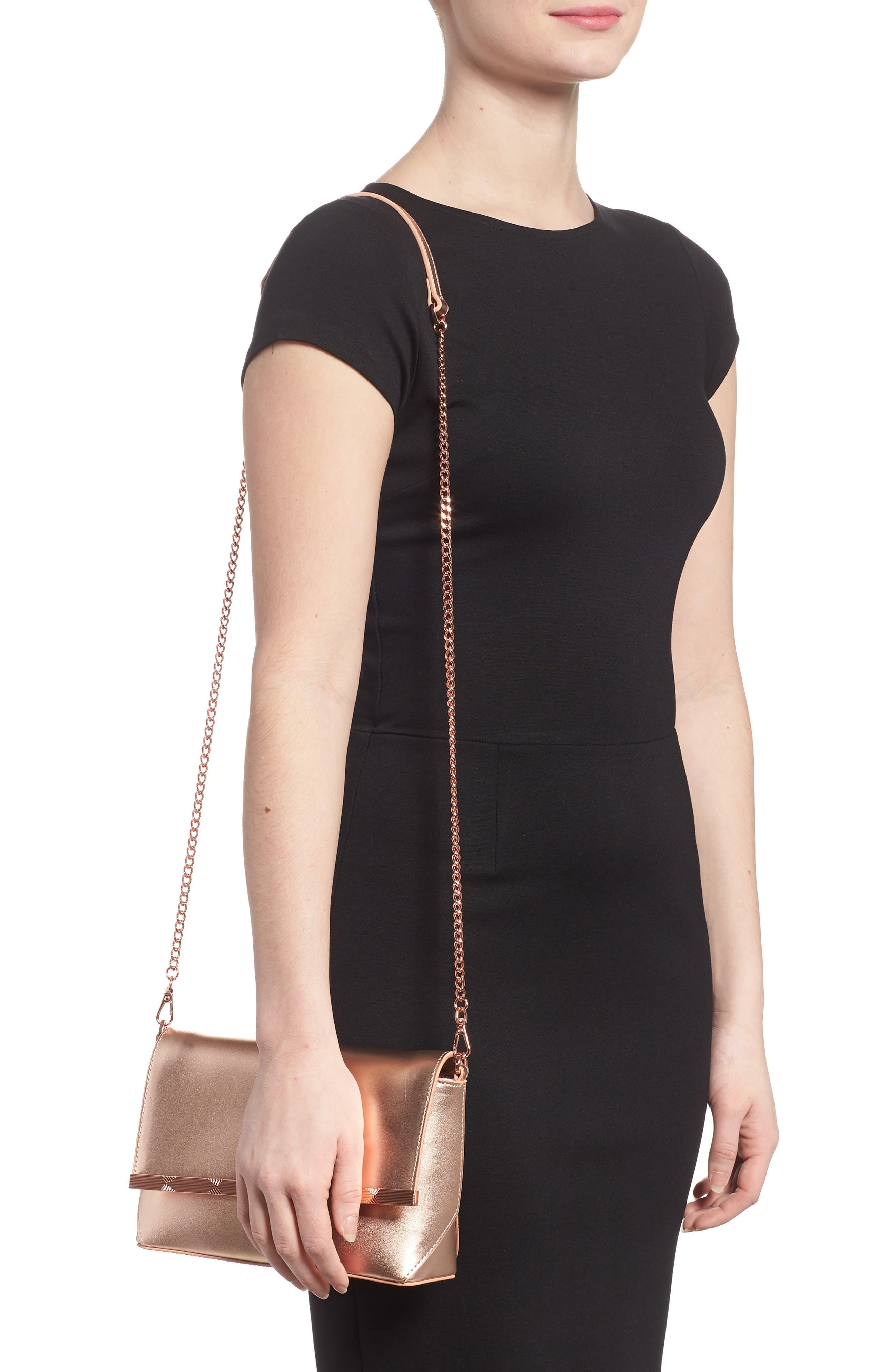 Alternate Image 2  - Ted Baker London Bow Embossed Leather Crossbody Bag