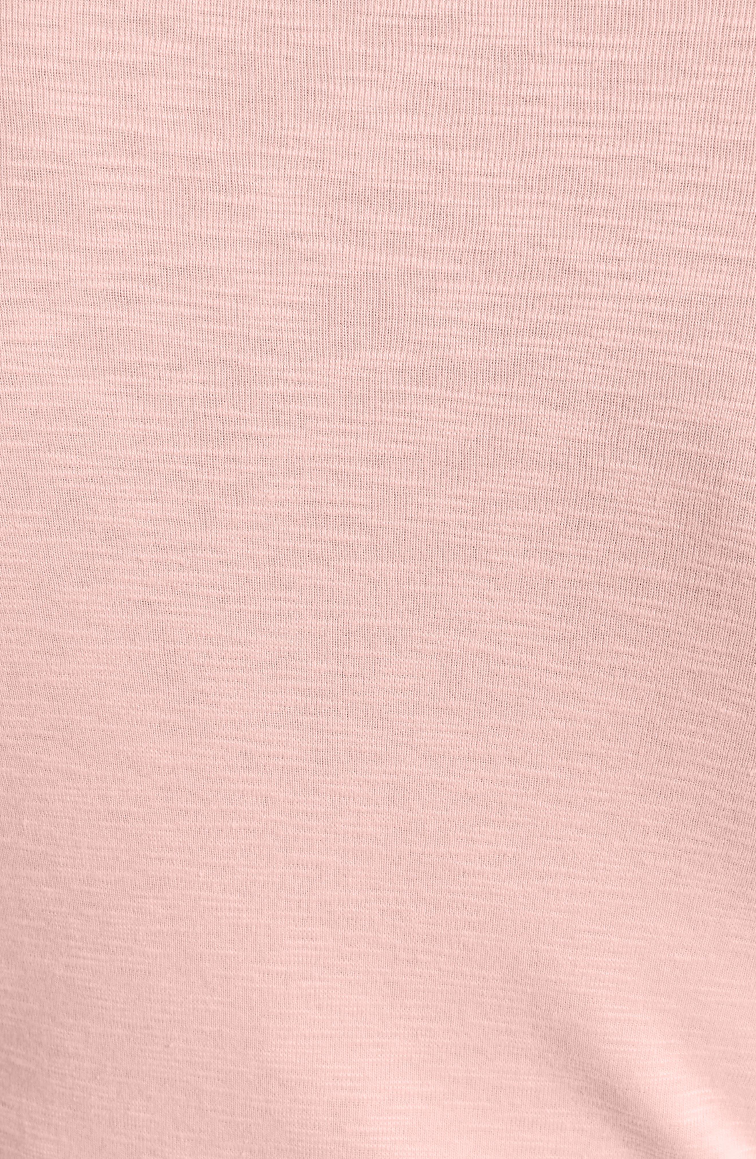 Three Quarter Sleeve Crewneck Tee,                             Alternate thumbnail 9, color,                             Tulip