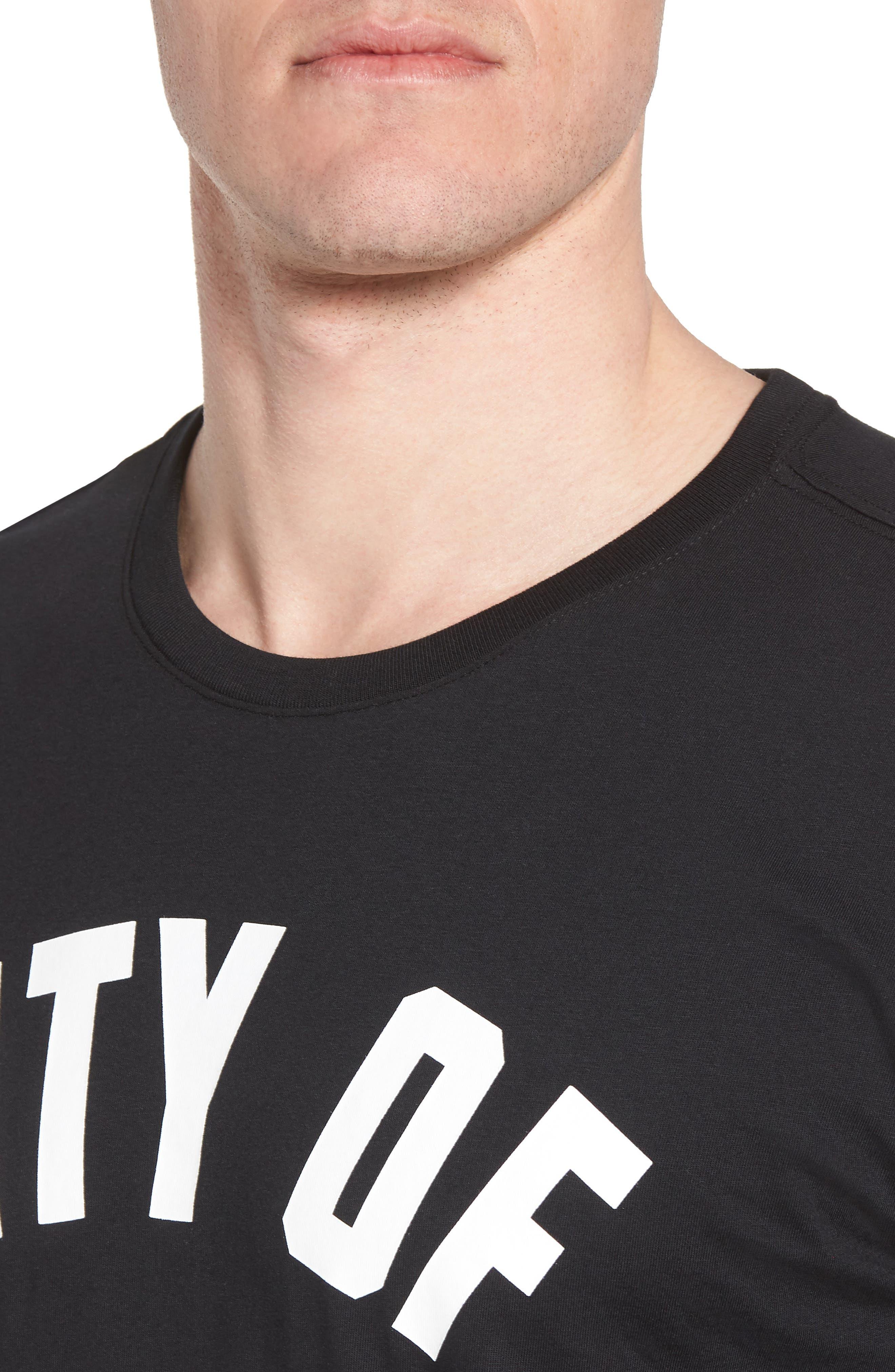Sportswear City of Flight T-Shirt,                             Alternate thumbnail 4, color,                             Black/ White