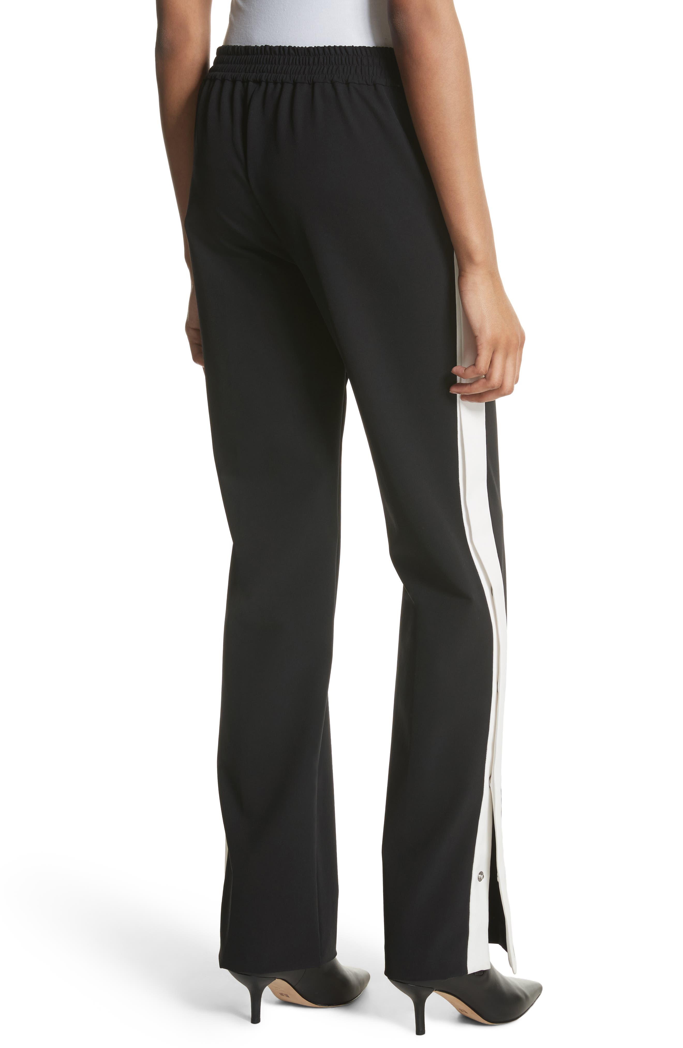 Snap Side Track Pants,                             Alternate thumbnail 2, color,                             Black/ Ivory