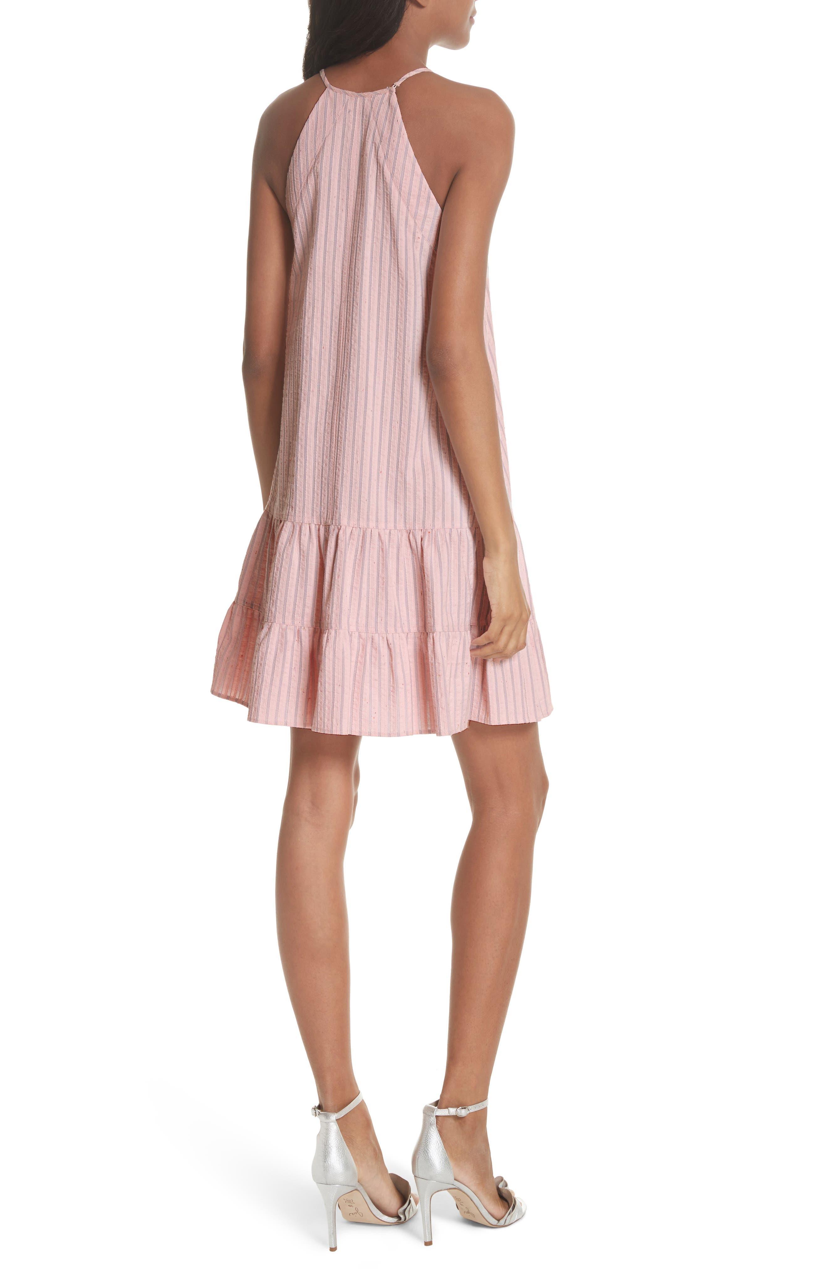 Sleeveless Stripe Tank Dress,                             Alternate thumbnail 2, color,                             Candy Floss Combo