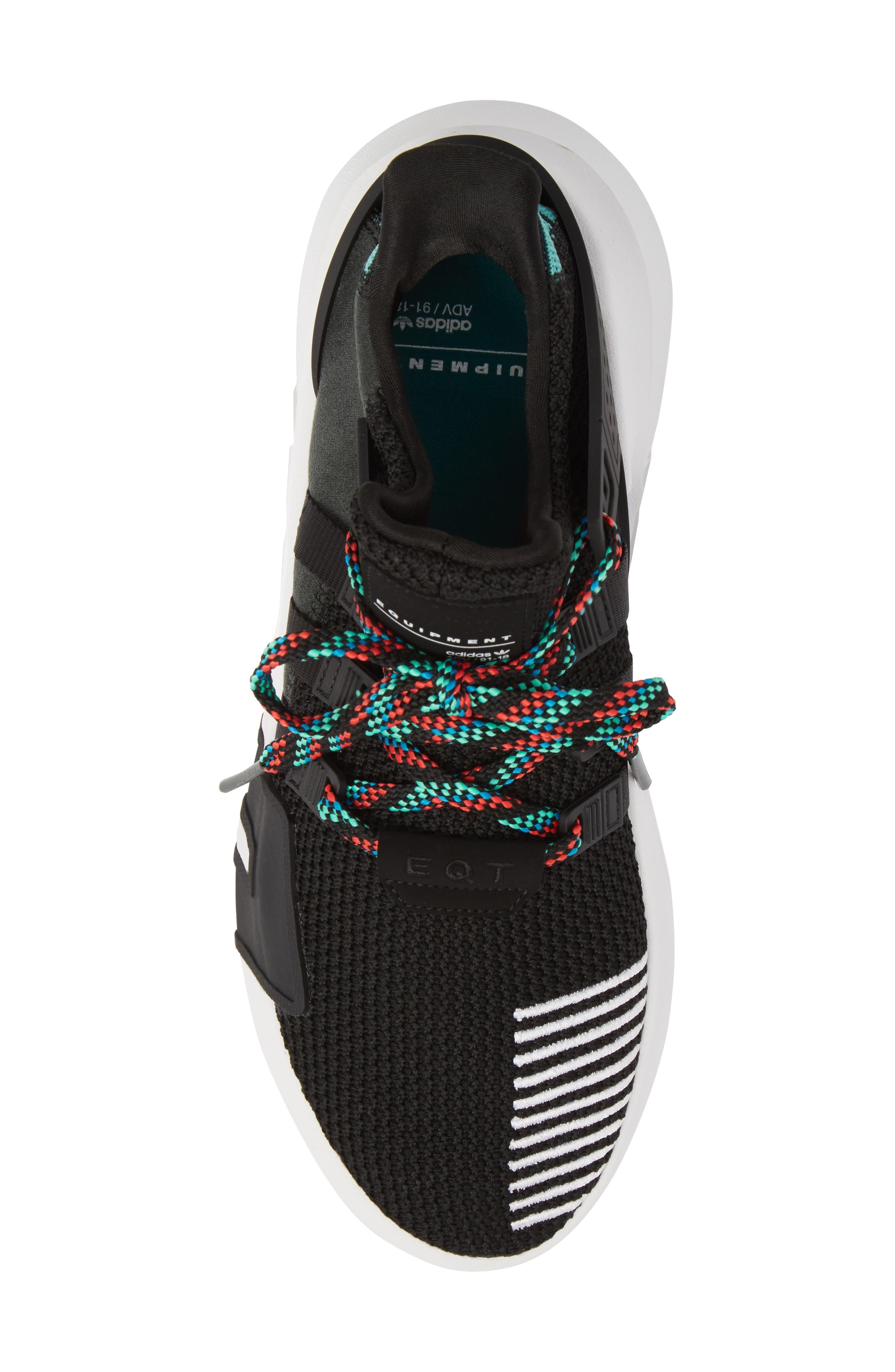 EQT Basketball ADV Sneaker,                             Alternate thumbnail 5, color,                             Core Black/ Sub Green