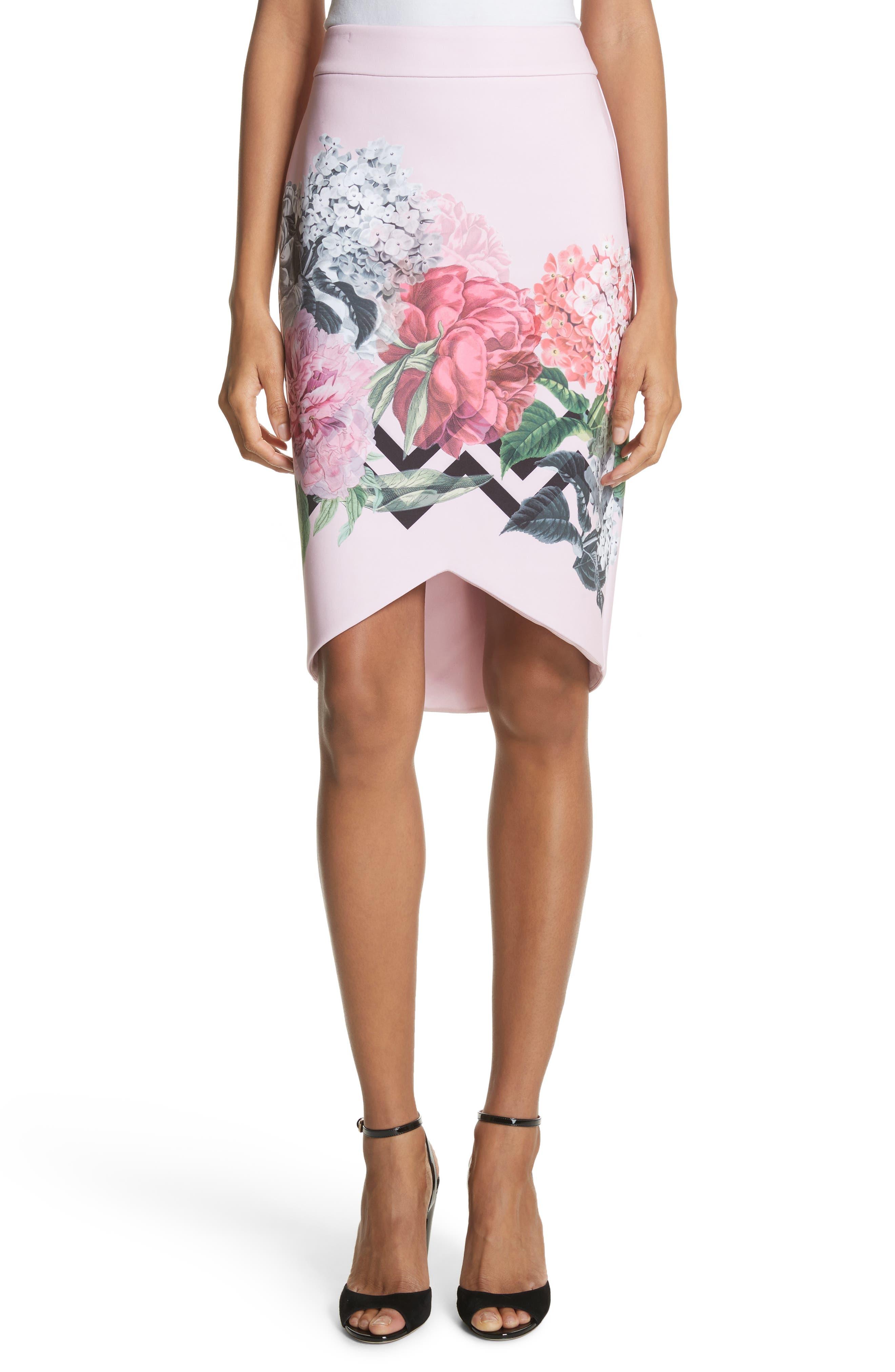 Soella Pencil Skirt,                             Main thumbnail 1, color,                             Pale Pink