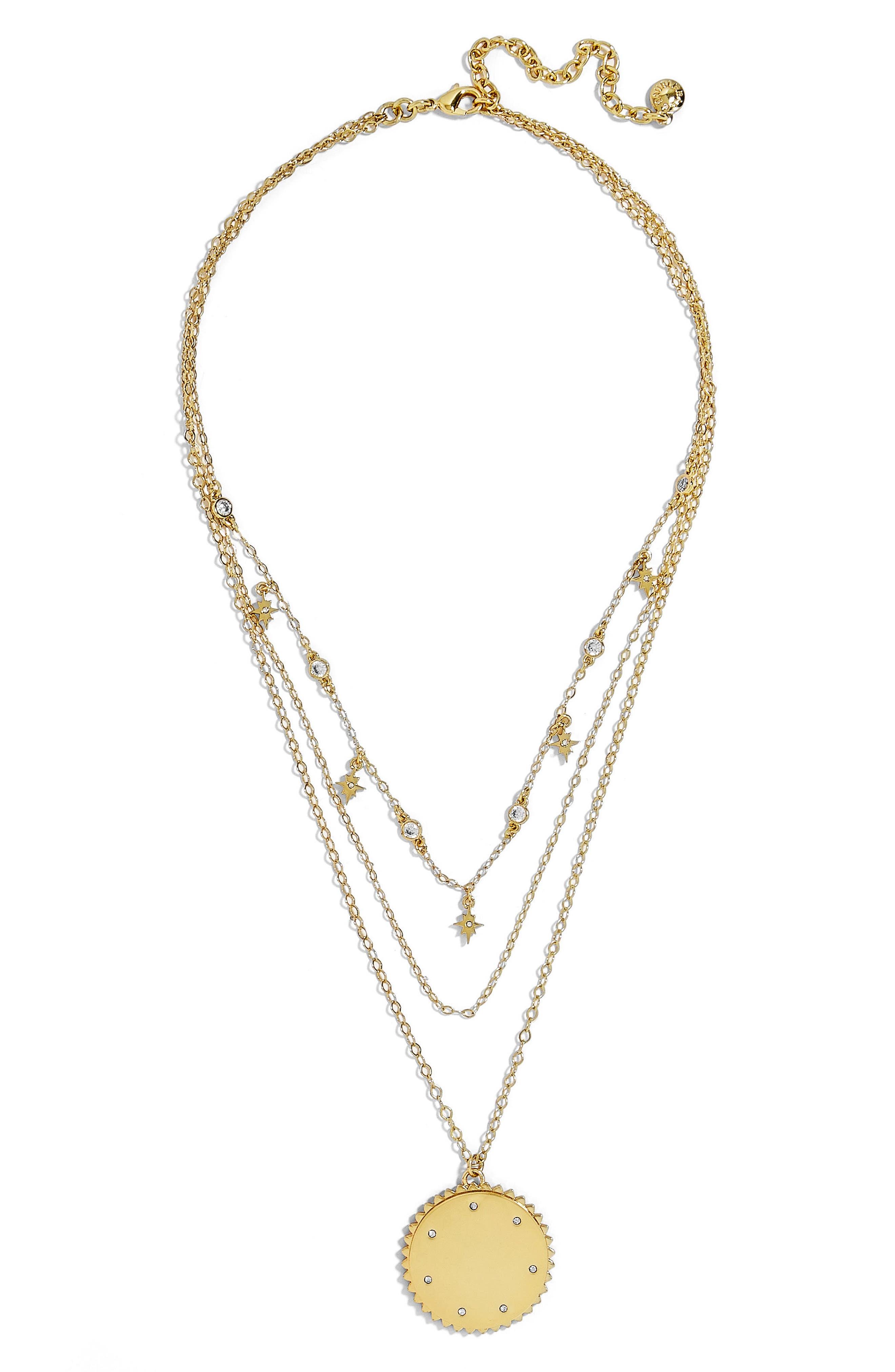 Andromeda Layered Pendant Necklace,                             Main thumbnail 1, color,                             Gold