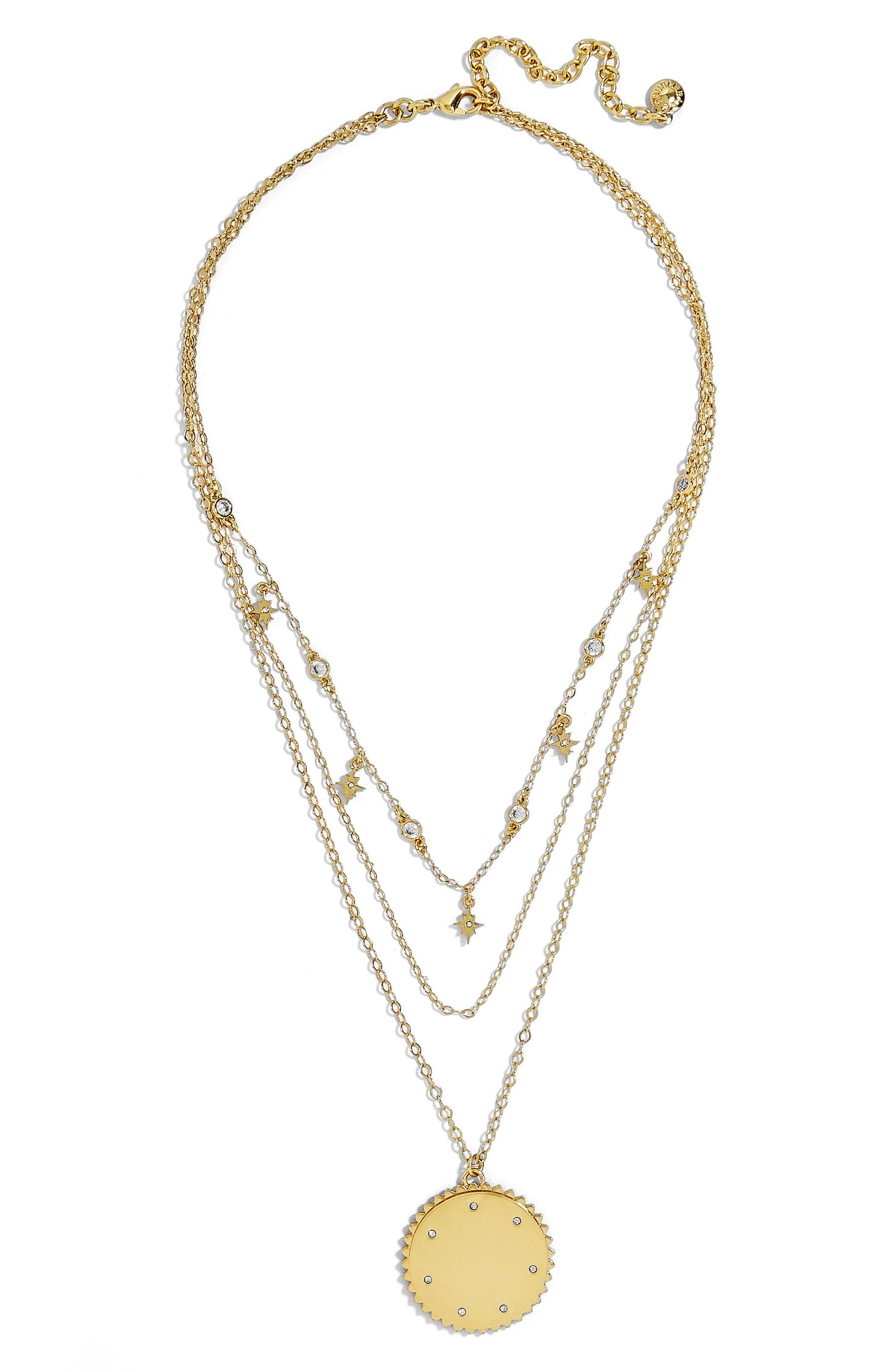 Andromeda Layered Pendant Necklace,                         Main,                         color, Gold