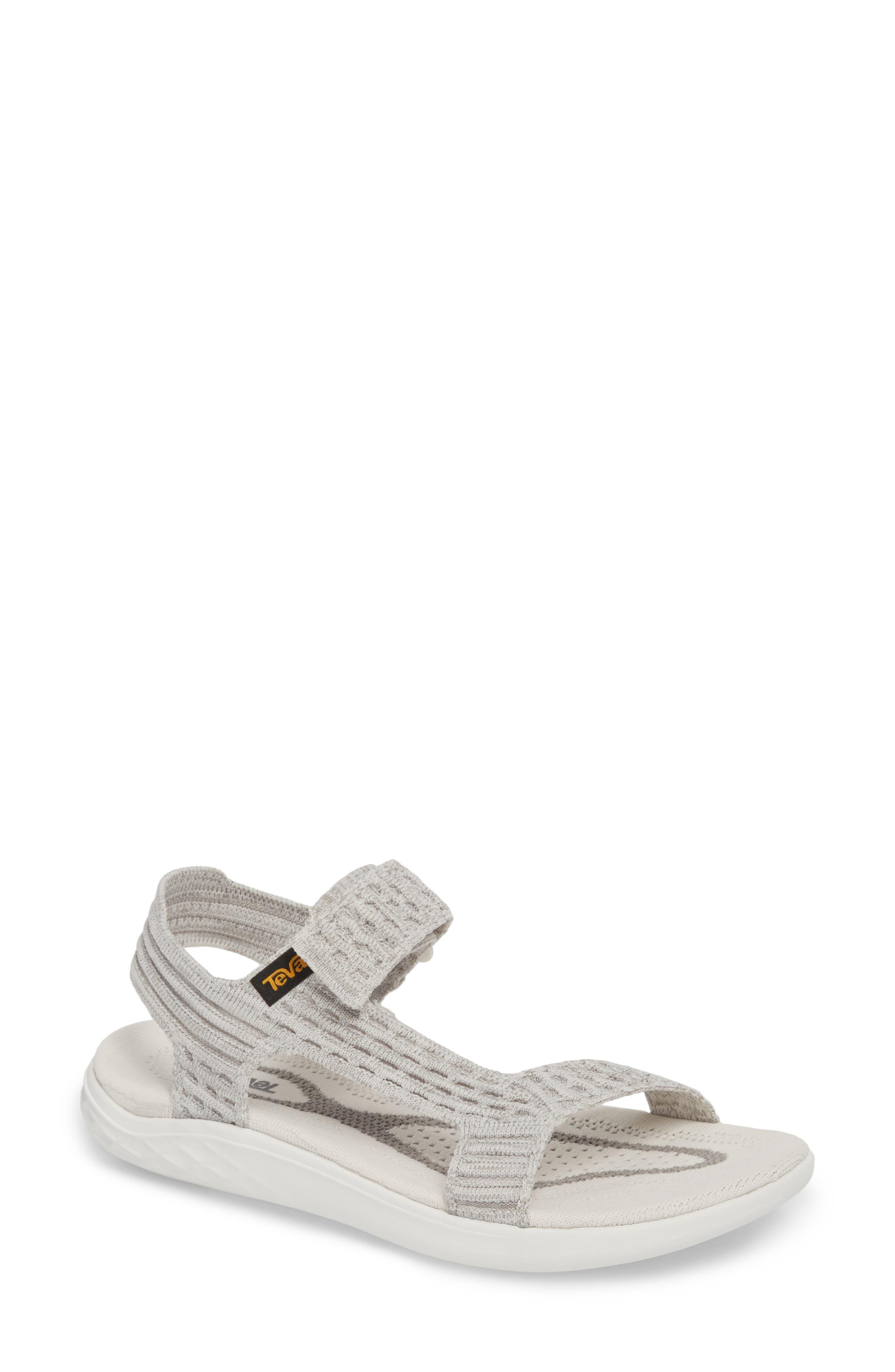 Terra Float 2 Knit Universal Sandal,                             Main thumbnail 1, color,                             Bright White Fabric