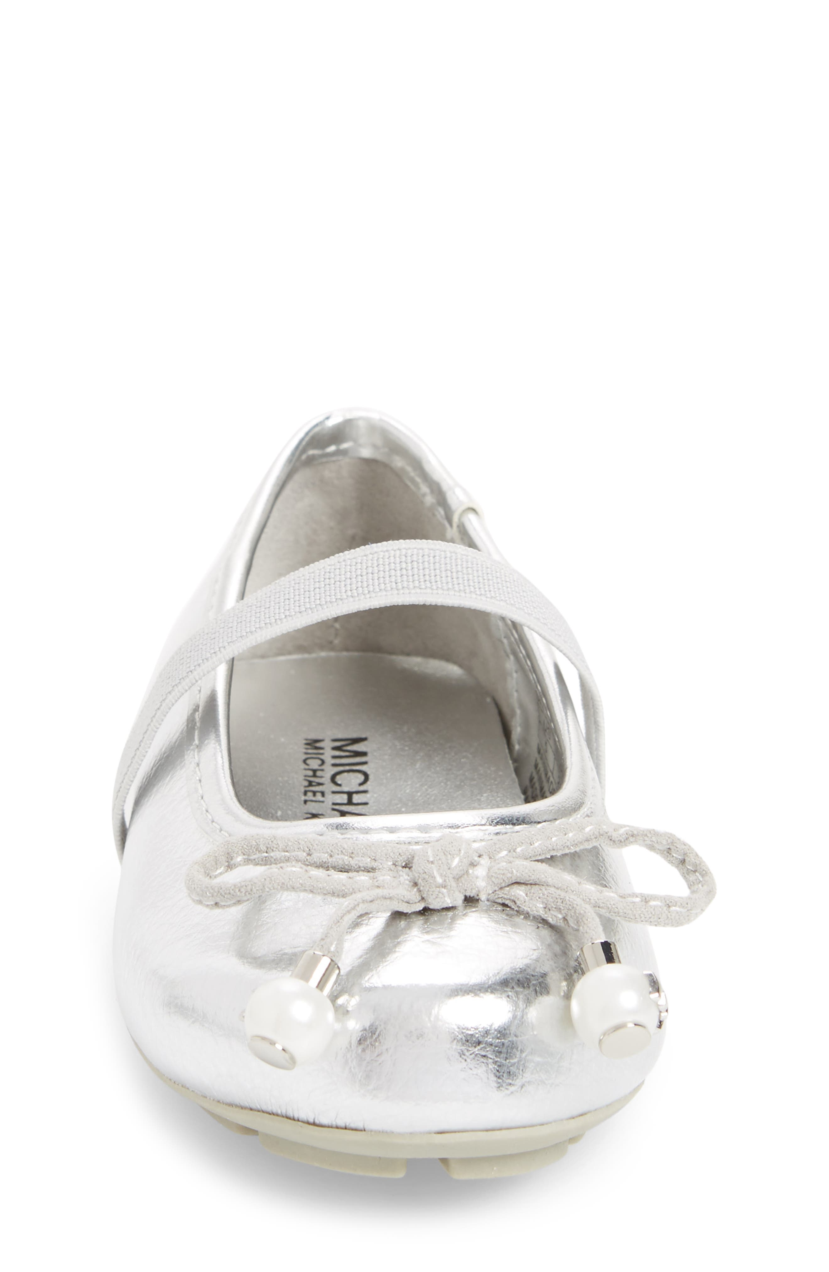 Rover Ting Ballet Flat,                             Alternate thumbnail 4, color,                             Silver