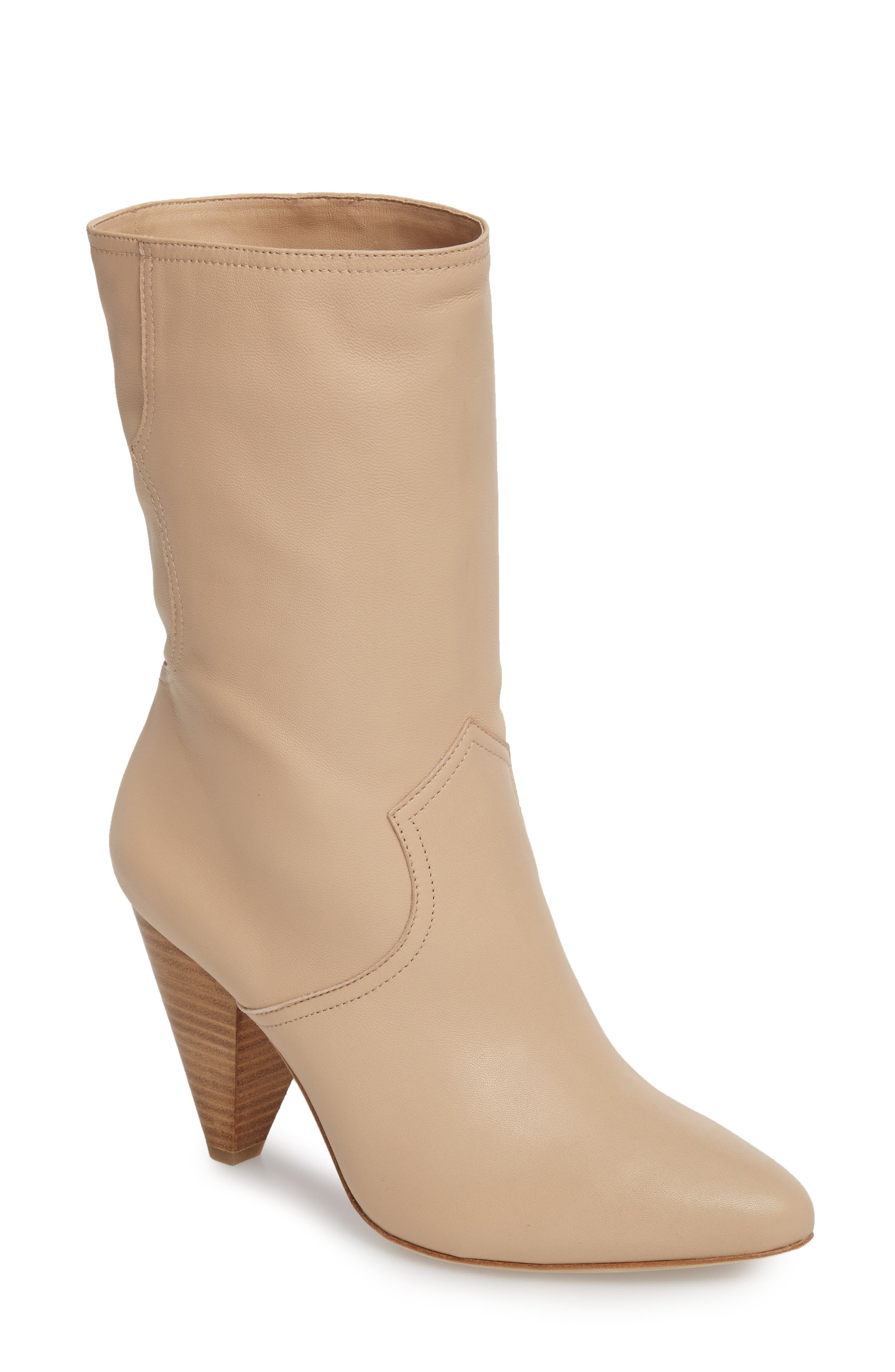 Gabbissy Almond Toe Boot,                             Main thumbnail 1, color,                             Blush