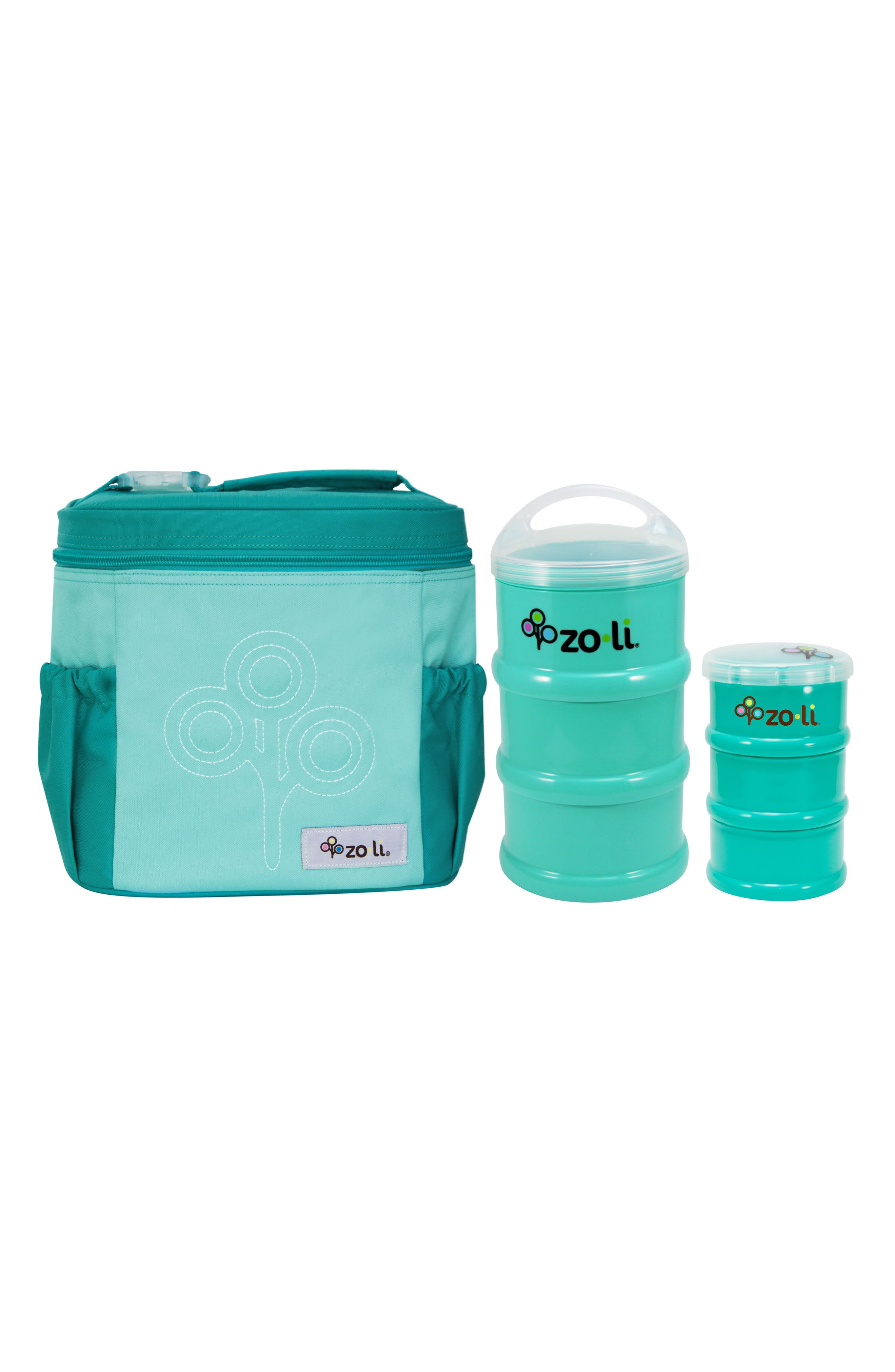 SUMO Snacker, PODS Containers & NOMNOM Tote Set,                             Main thumbnail 1, color,                             Mint