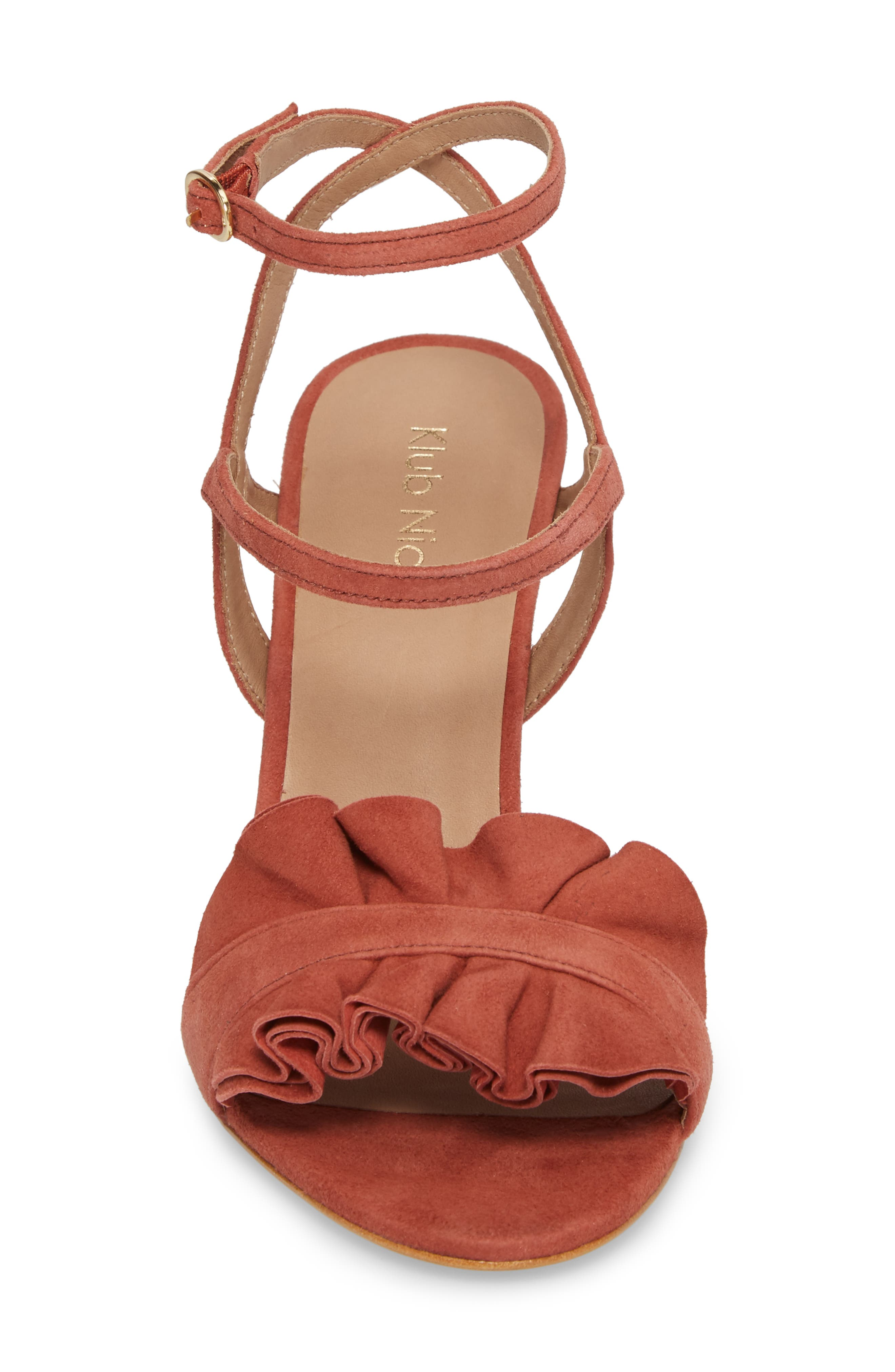 Ansley Sandal,                             Alternate thumbnail 4, color,                             Spice Suede