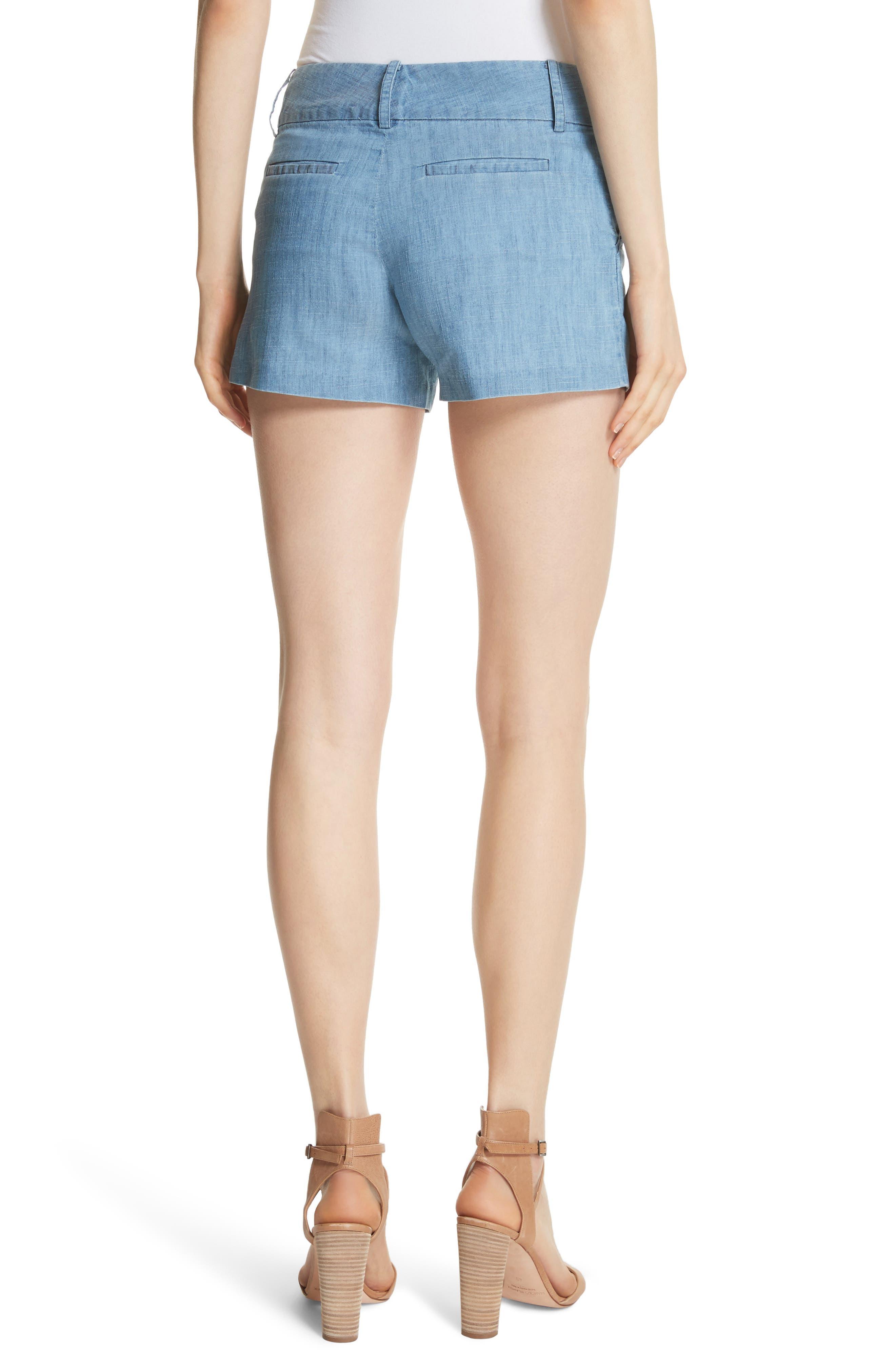 Cady Lyocell Blend Shorts,                             Alternate thumbnail 2, color,                             Light Chambray