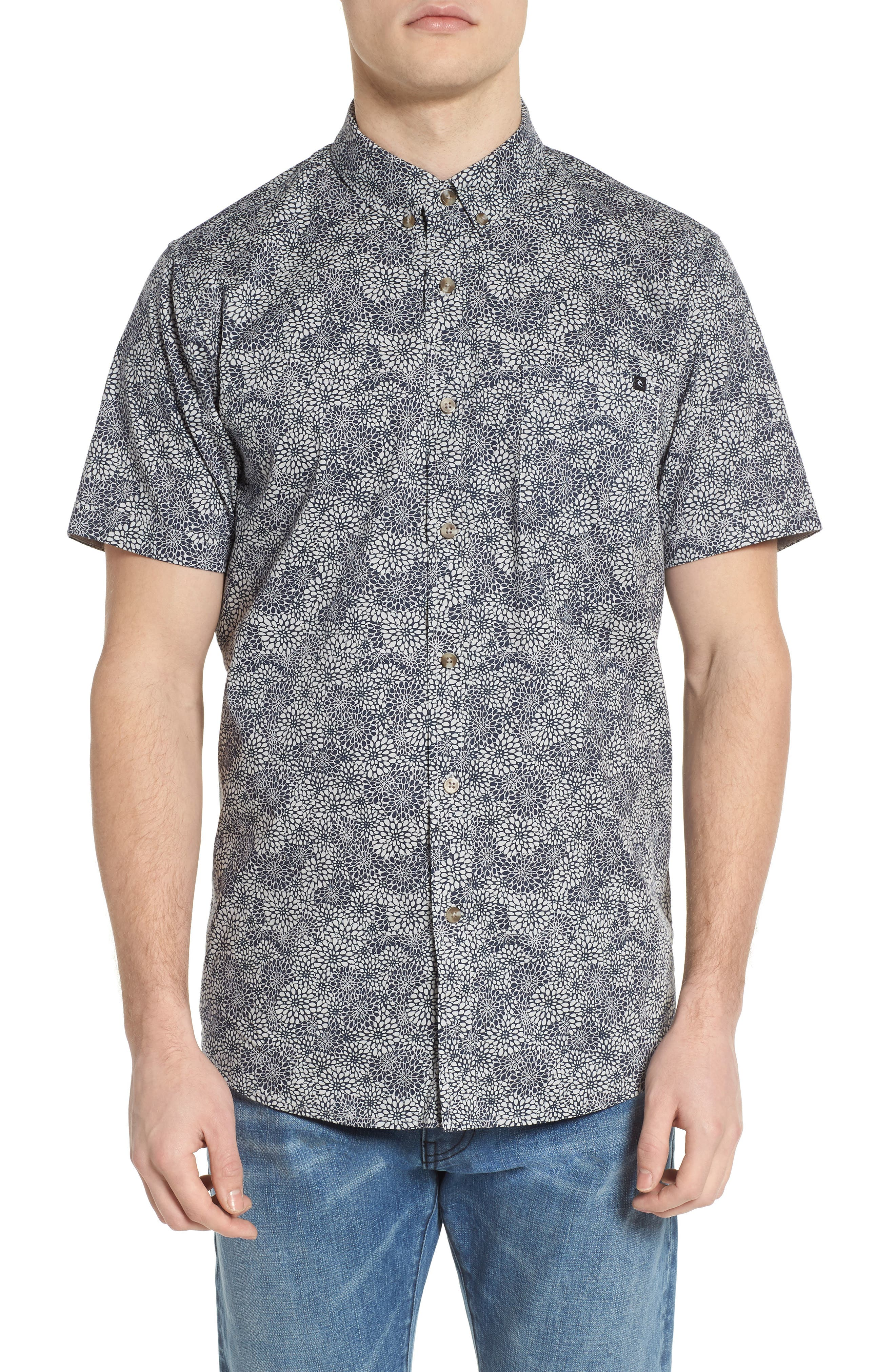 Preset Short Sleeve Shirt,                         Main,                         color, Navy