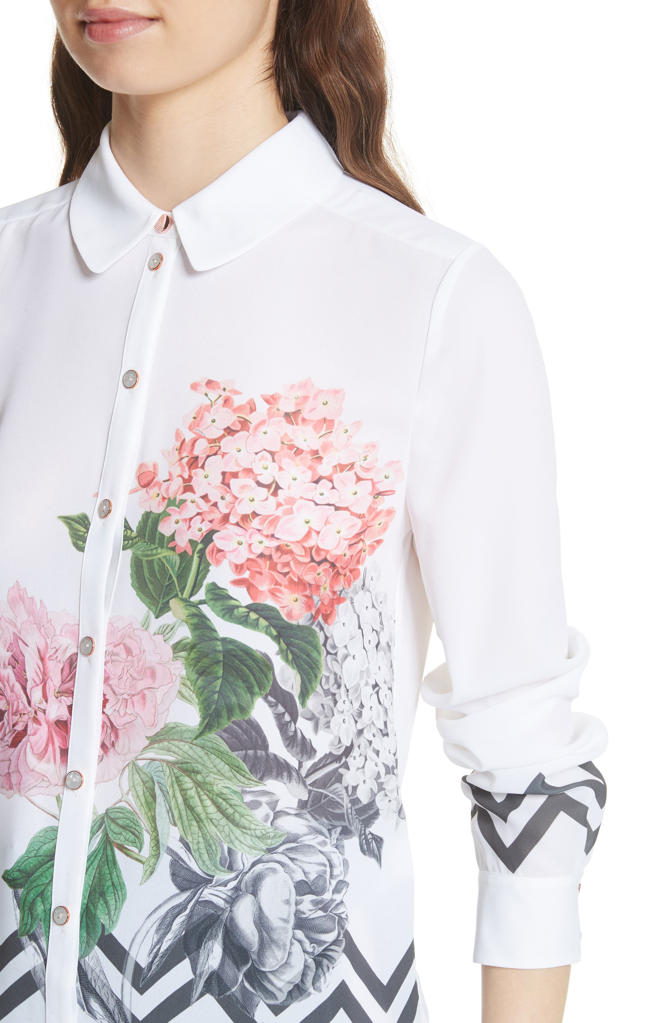 Palace Gardens Shirt,                             Alternate thumbnail 4, color,                             White