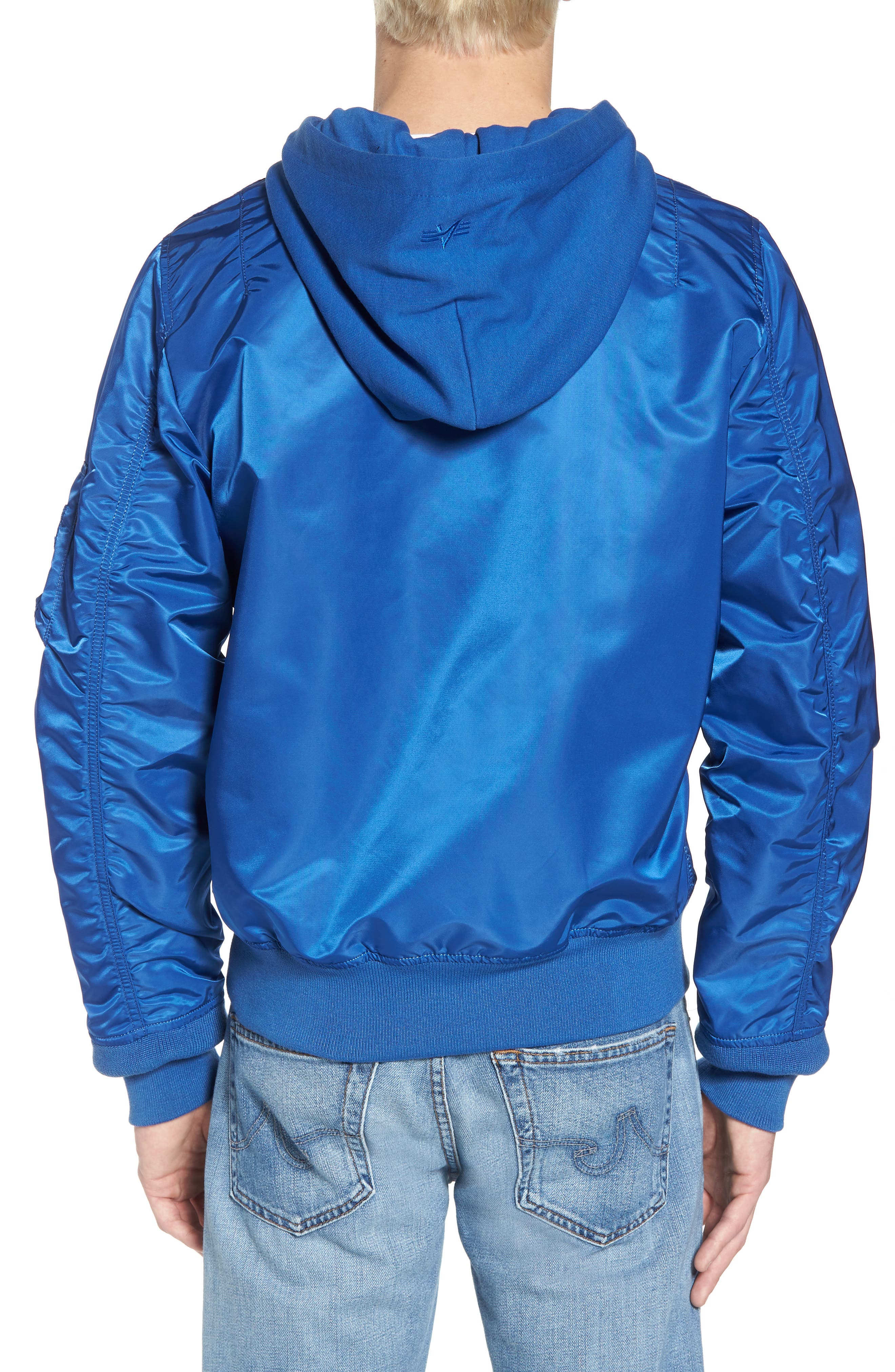 L-2B Natus Water Resistant Flight Jacket,                             Alternate thumbnail 2, color,                             Pacific Blue